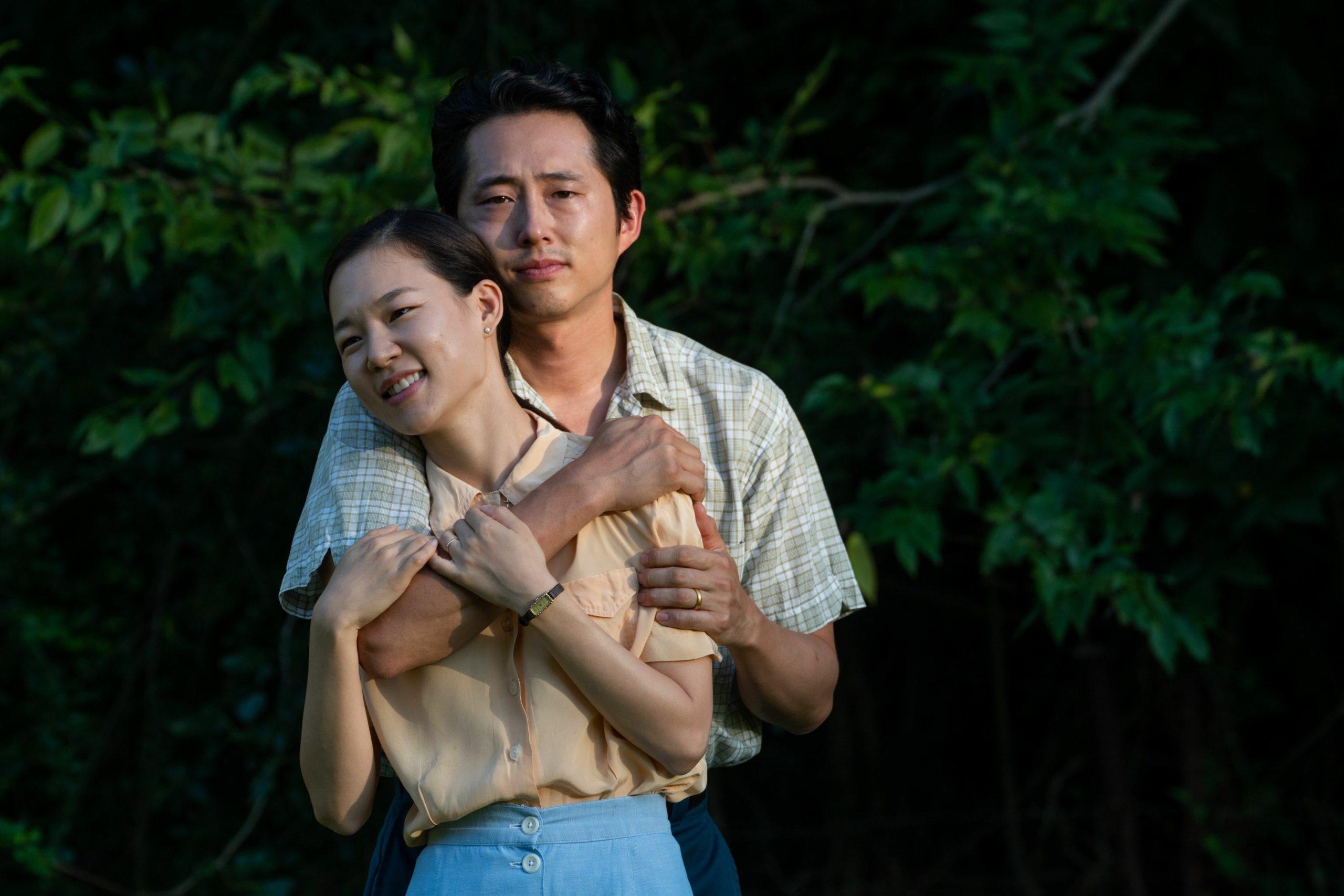 Yeri Han and Steven Yeun in