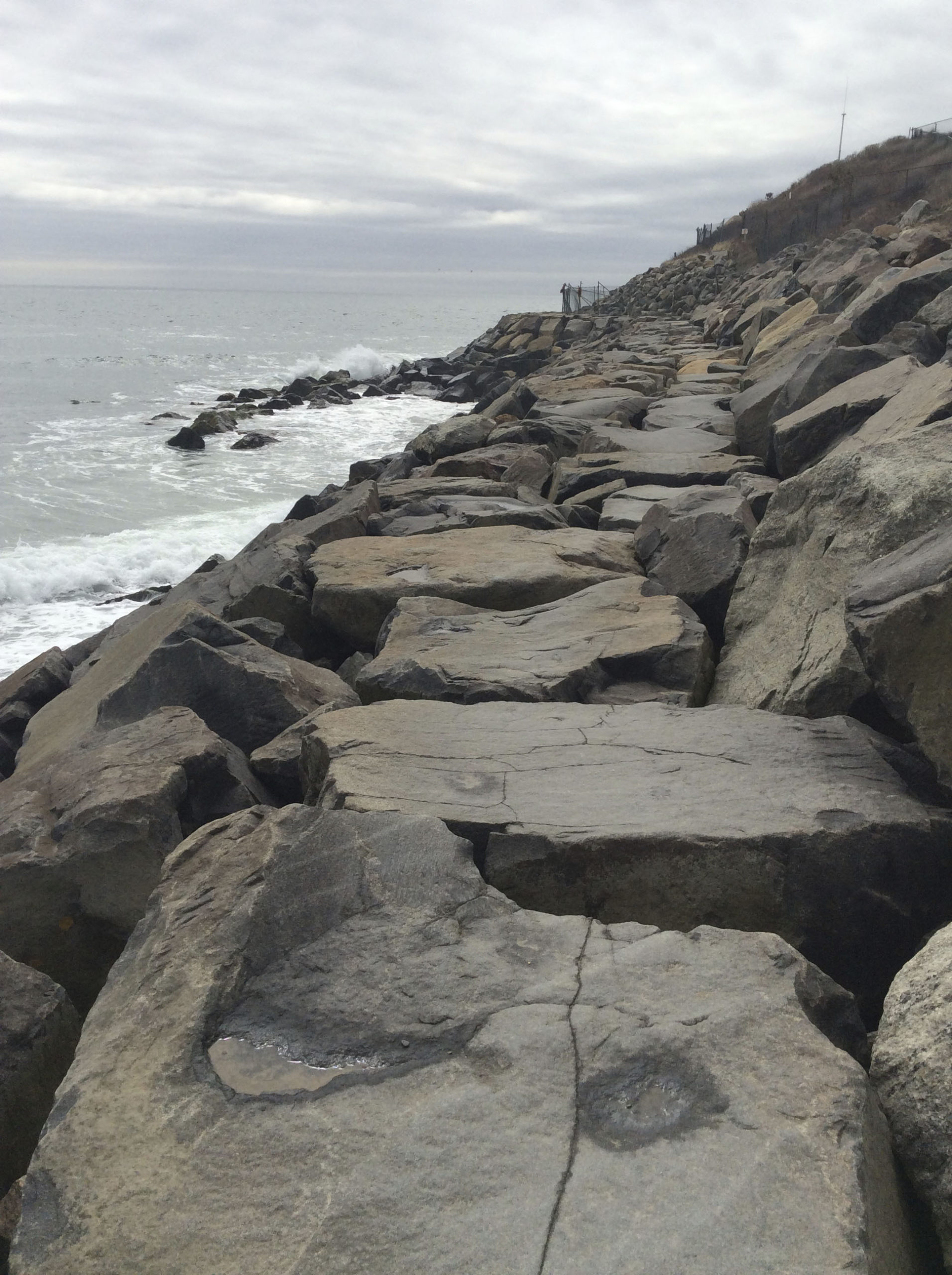 The sea encroaches on the rocks at Montauk Point. BRYAN BOYHAN