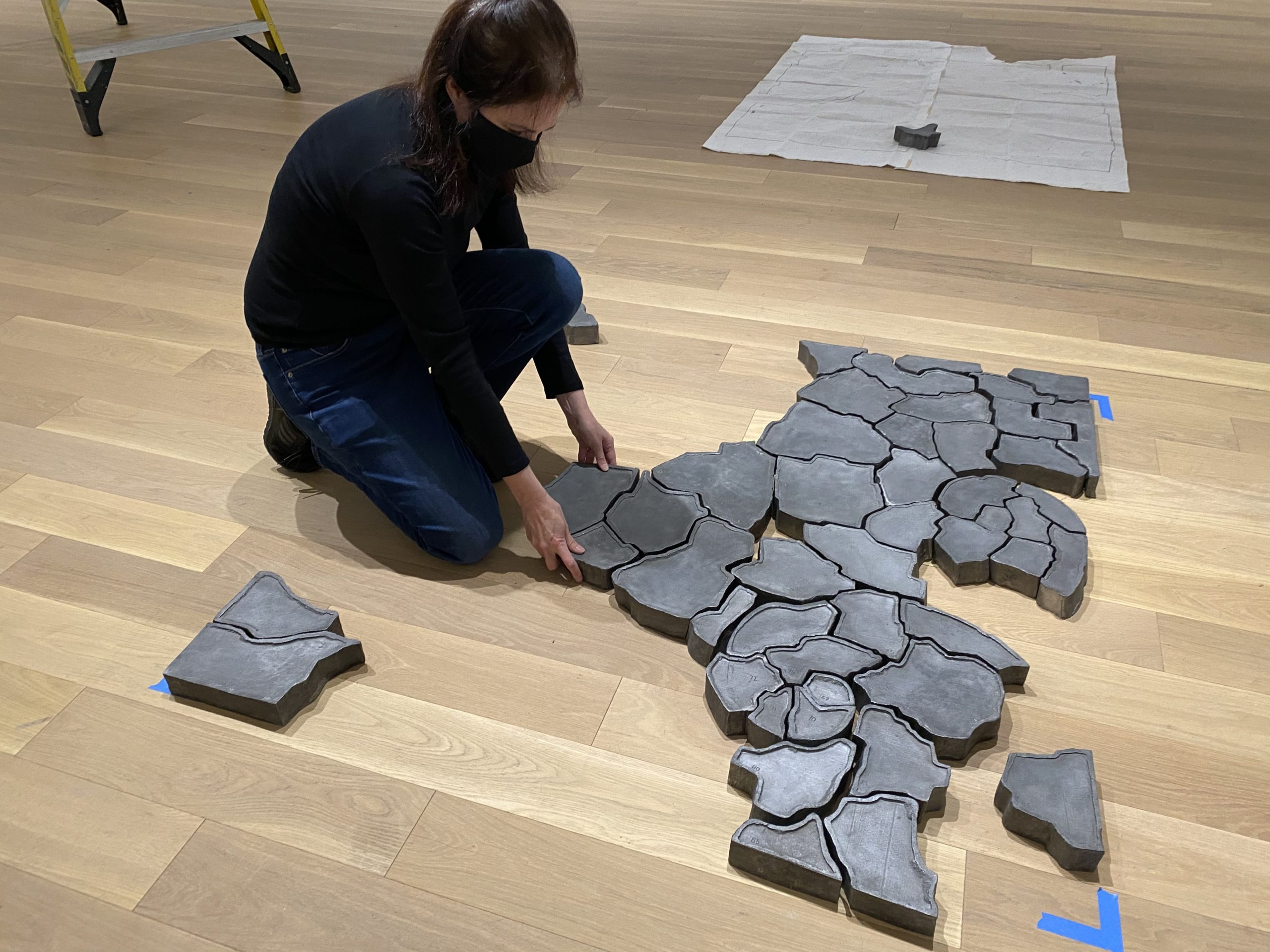 Karin Waisman installs