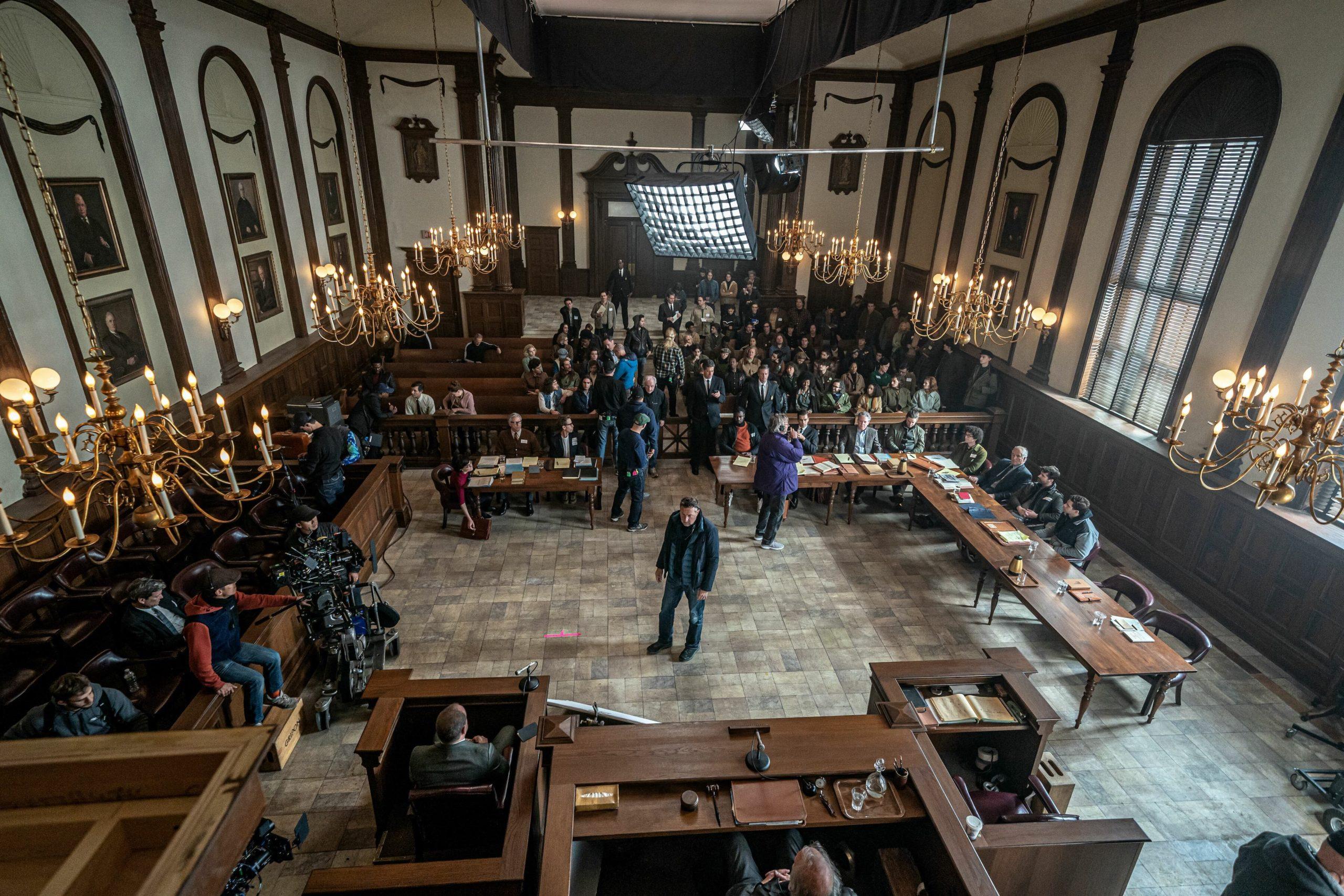 Courtroom in Aaron Sorkin's film