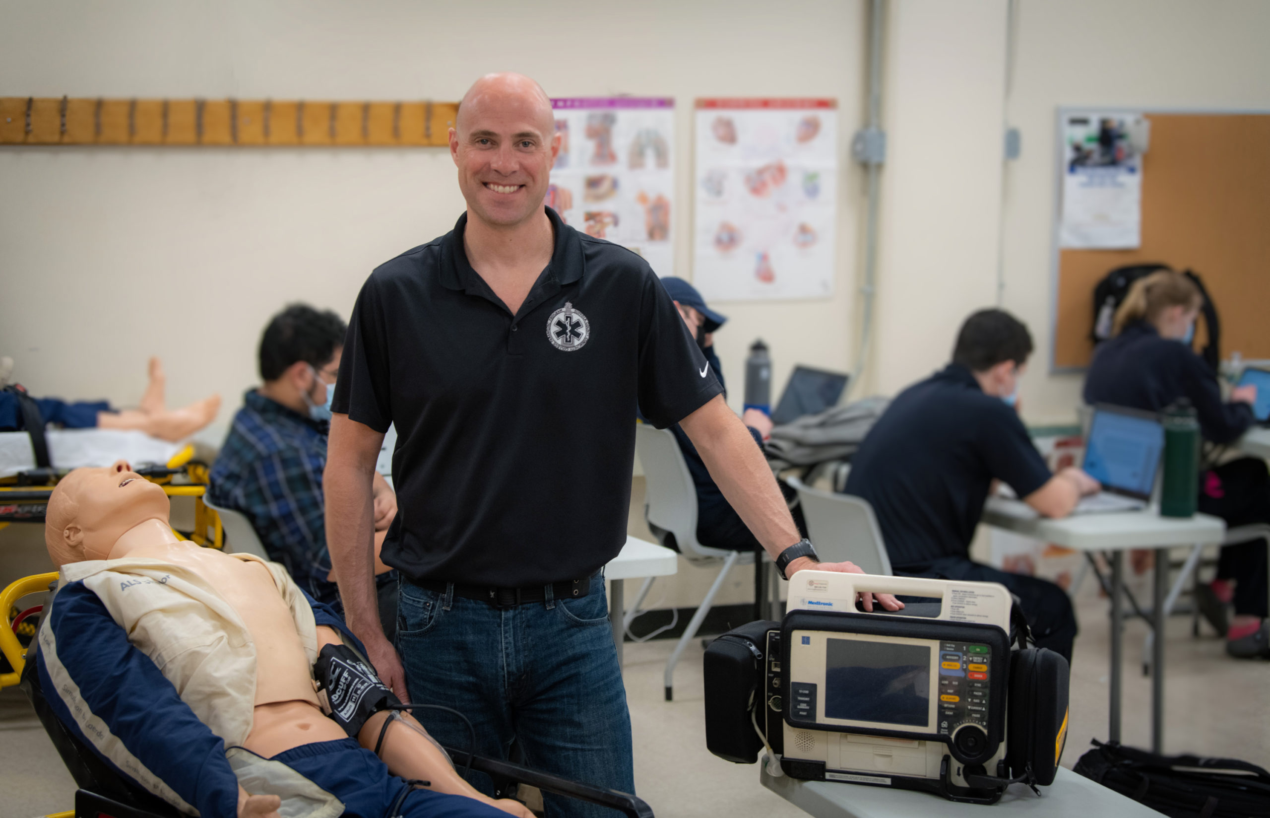 Suffolk Community College's Emergency Medical Care and Fire Programs Coordinator and Professor and Assistant Academic Chair Matt Zukosky.