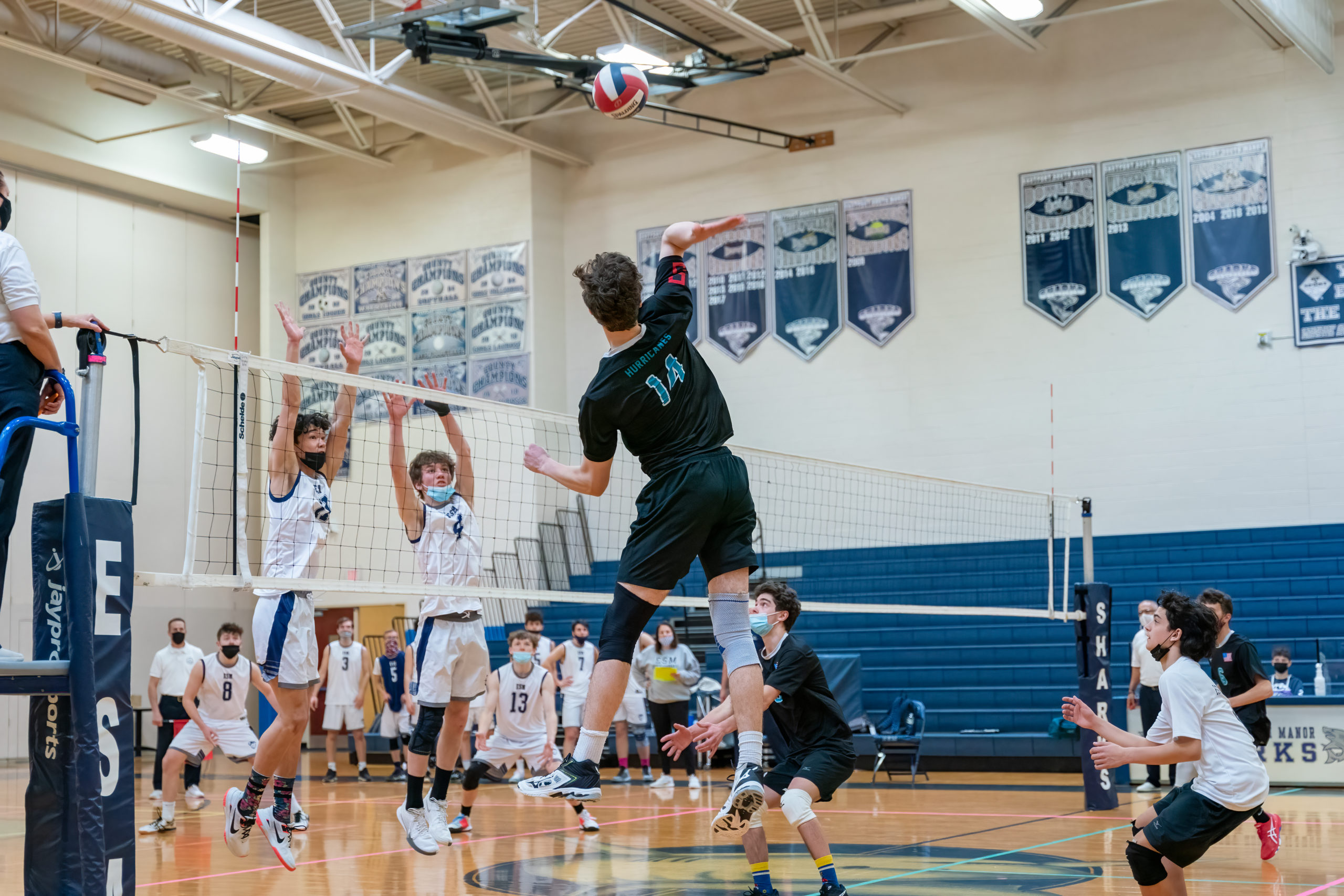 Daniel Haber of Westhampton Beach gets set to attempt a kill.