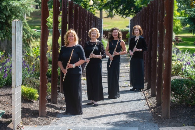 Flutissimo! is a quartet of flute players, from left,  Leslie Stait, Jerene Weitman, Jennifer Haley and Claudia Beeby.