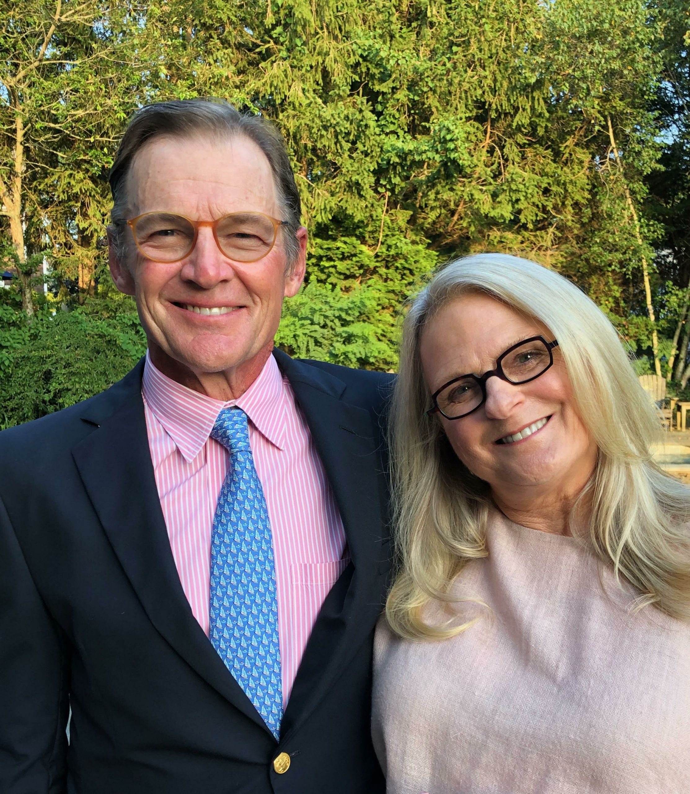 Roy Stevenson, seen with his wife Polly, is running for Southampton Village Board.