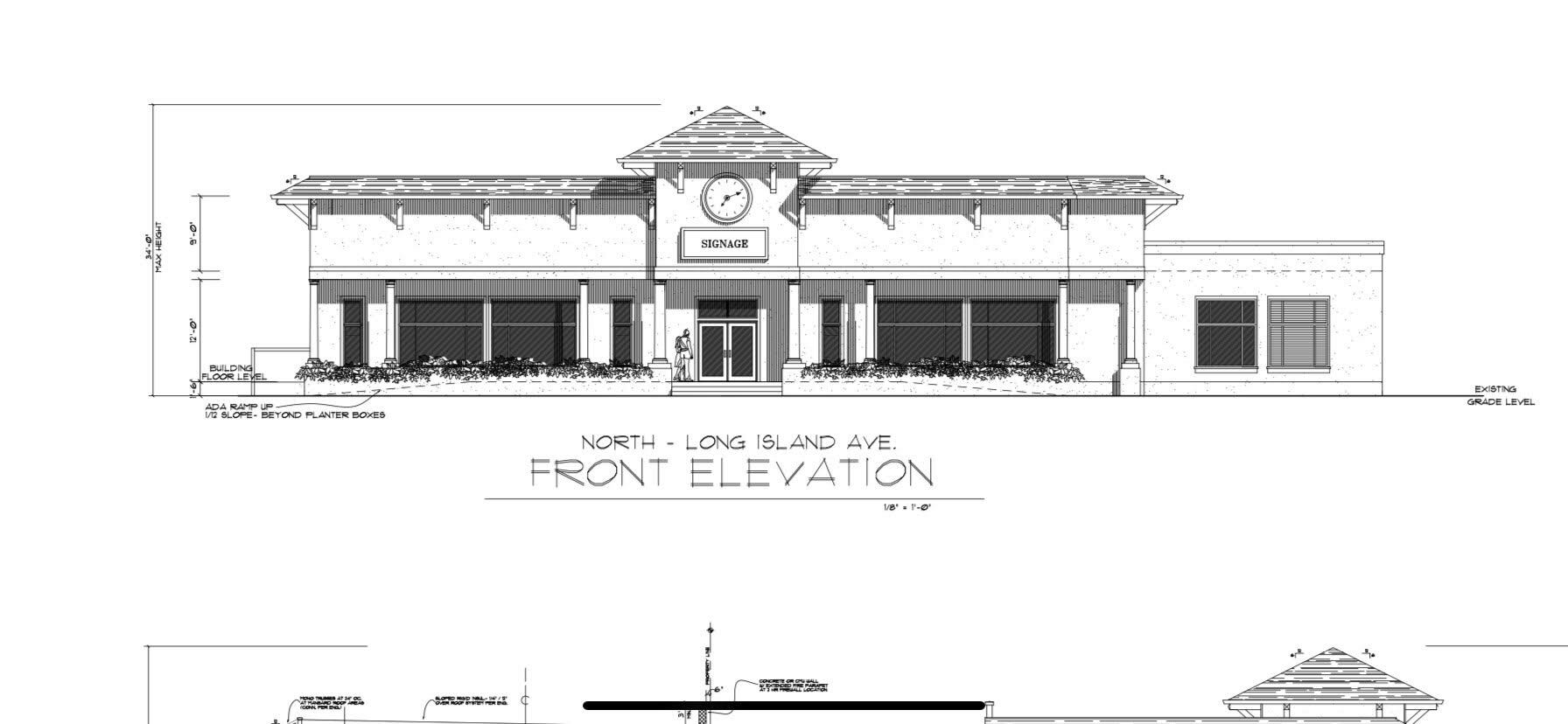 A rendering of a building proposed by David Schiavoni on Long Island Avenue in Sag Harbor. COURTESY DAVID SCHIAVONI