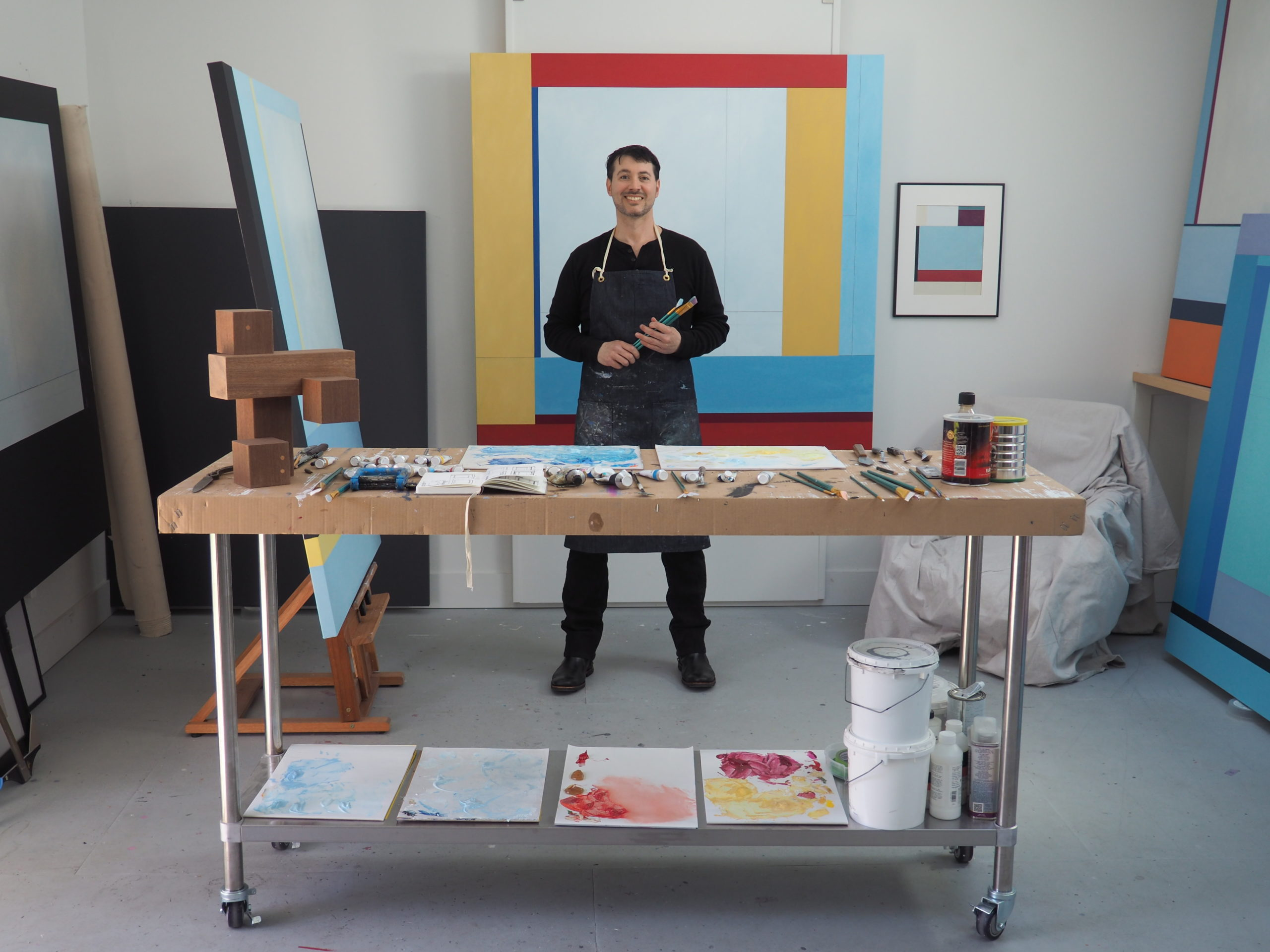 Artist Chris Kelly's solo show opens May 29 at the new Colm Rowan Fine Art Gallery in East Hampton.