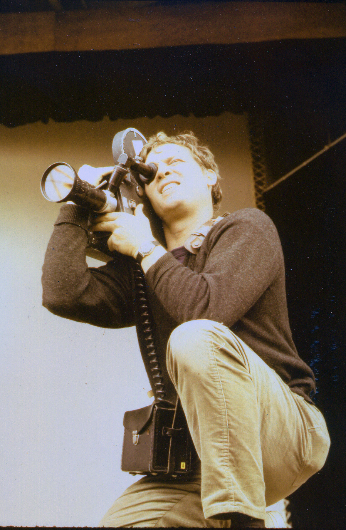 D.A. Pennebaker during the filming of