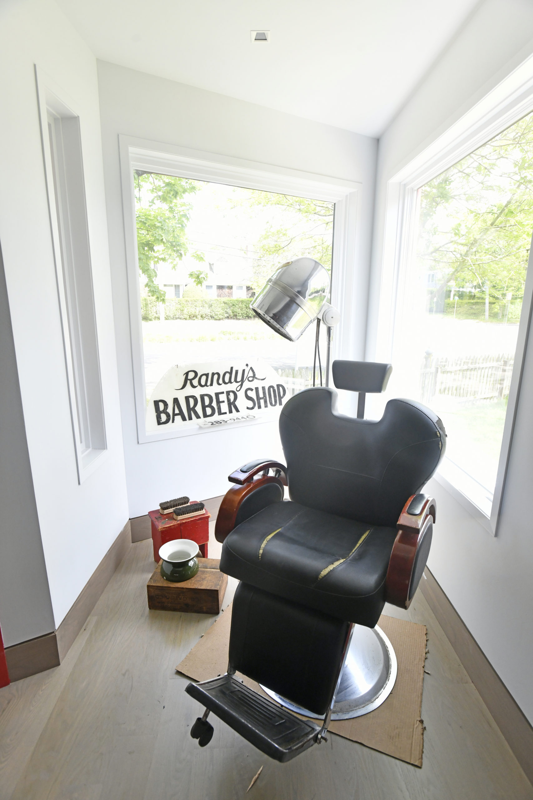 Displays pay tribute to the museum's life as Randy's Barber Shop.  DANA SHAW