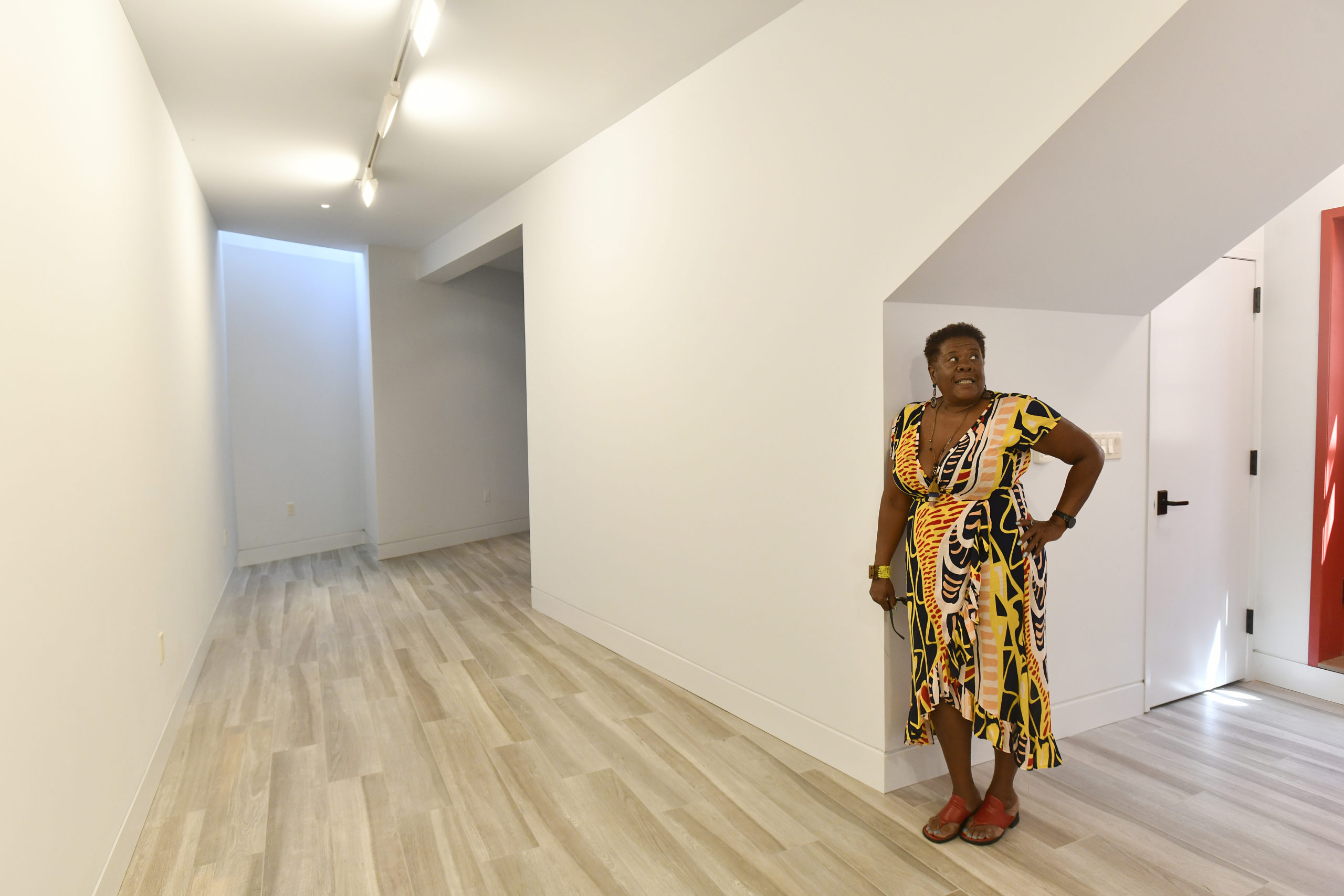 SAAM Founder and Director Brenda Simmons in the gallery space at the museum. DANA SHAW