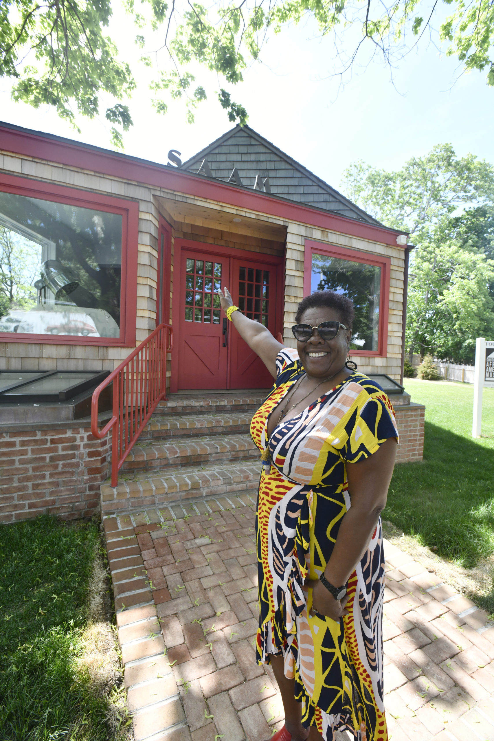 Museum founder Brenda Simmons, in front of the building on Monday.  DANA SHAW
