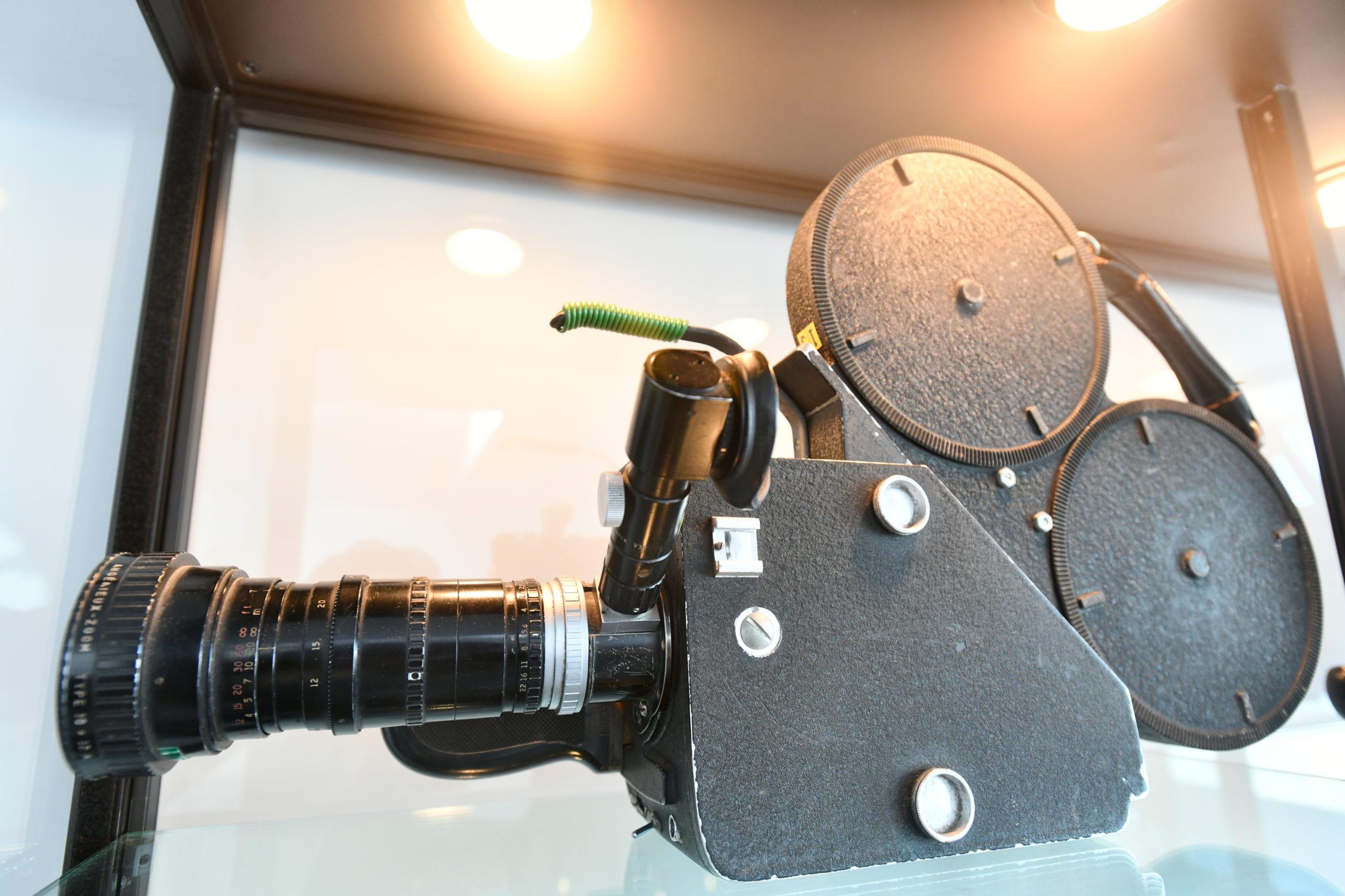 One of D.A. Pennebaker's  cameras.    DANA SHAW
