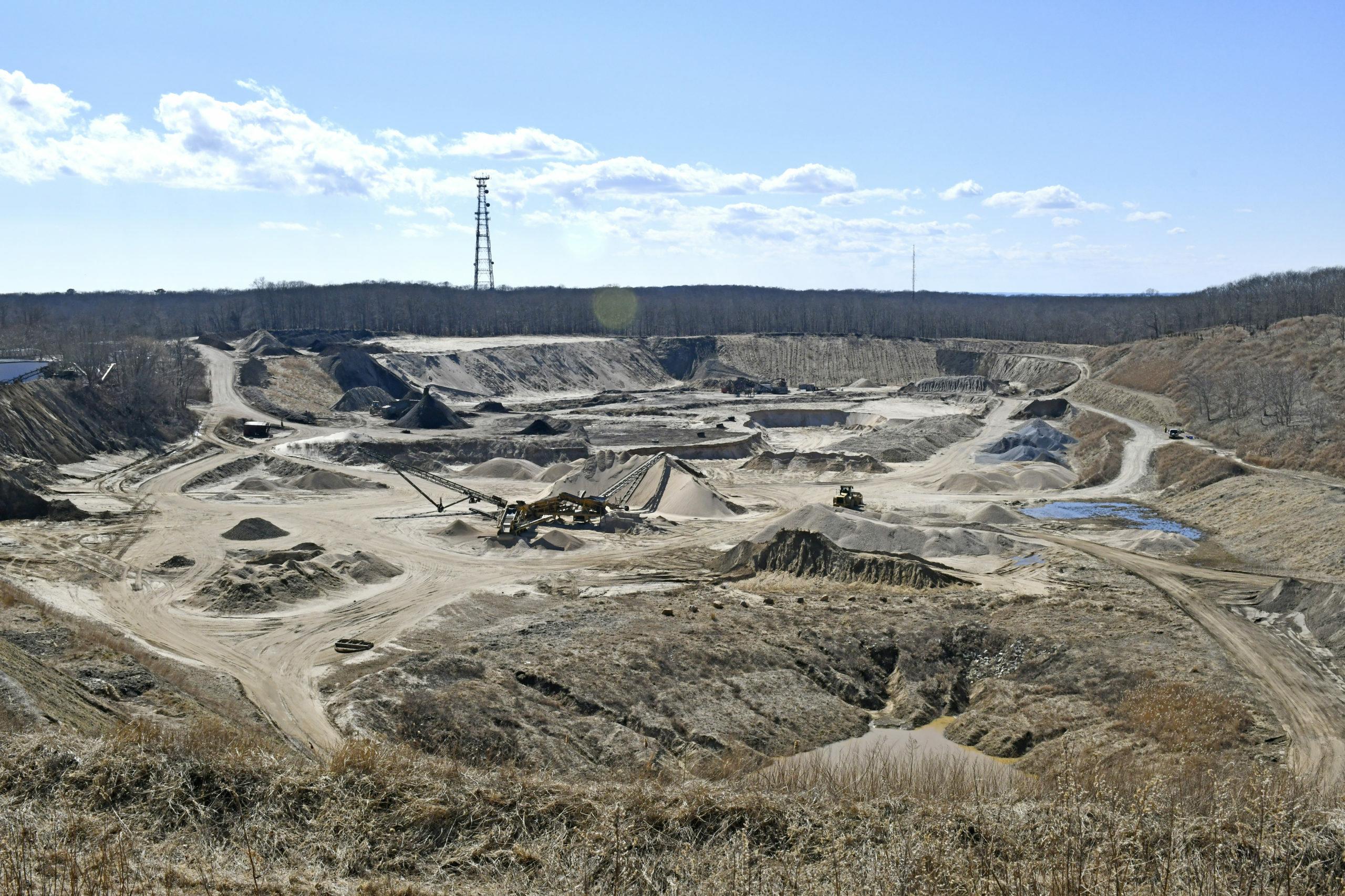 The Sand Land mining operation in Bridgehampton. EXPRESS FILE
