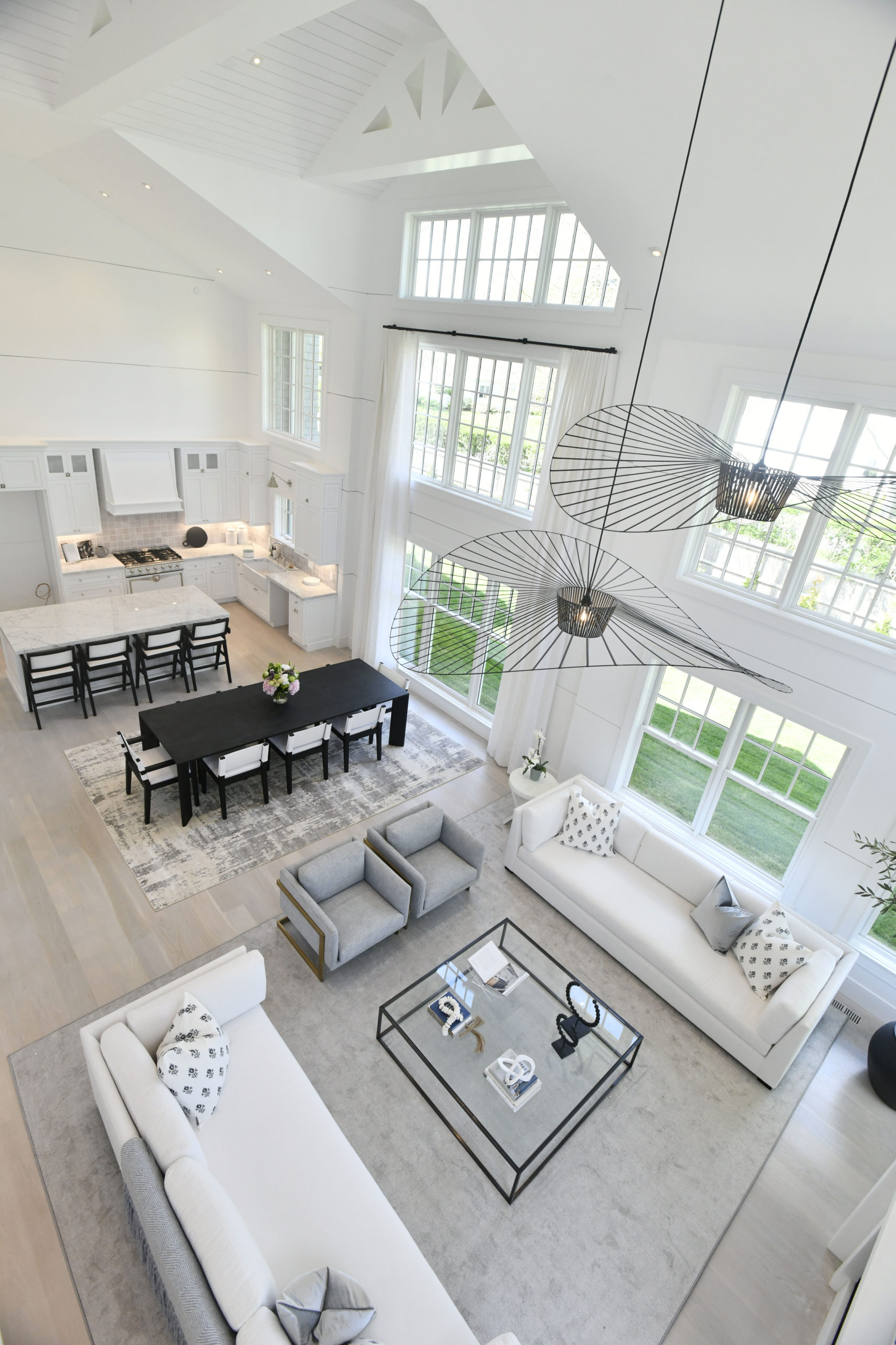 The great room of a model townhouse designed by Beechwood Design Studio.  DANA SHAW