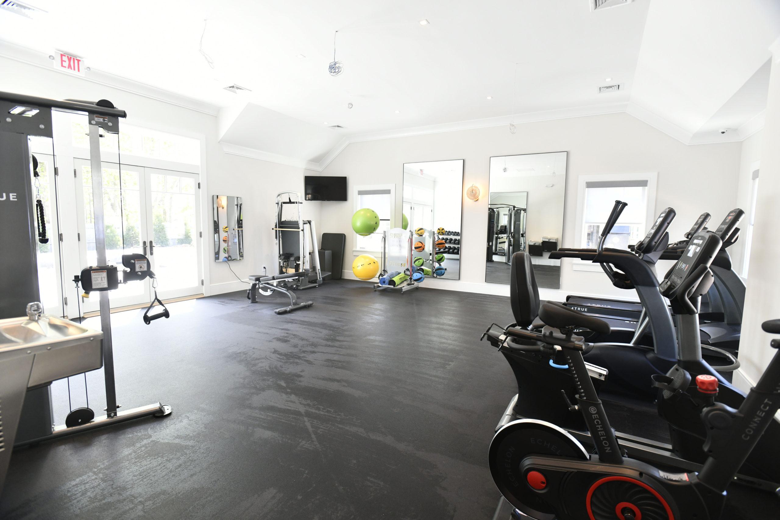 The clubhouse gym.  DANA SHAW