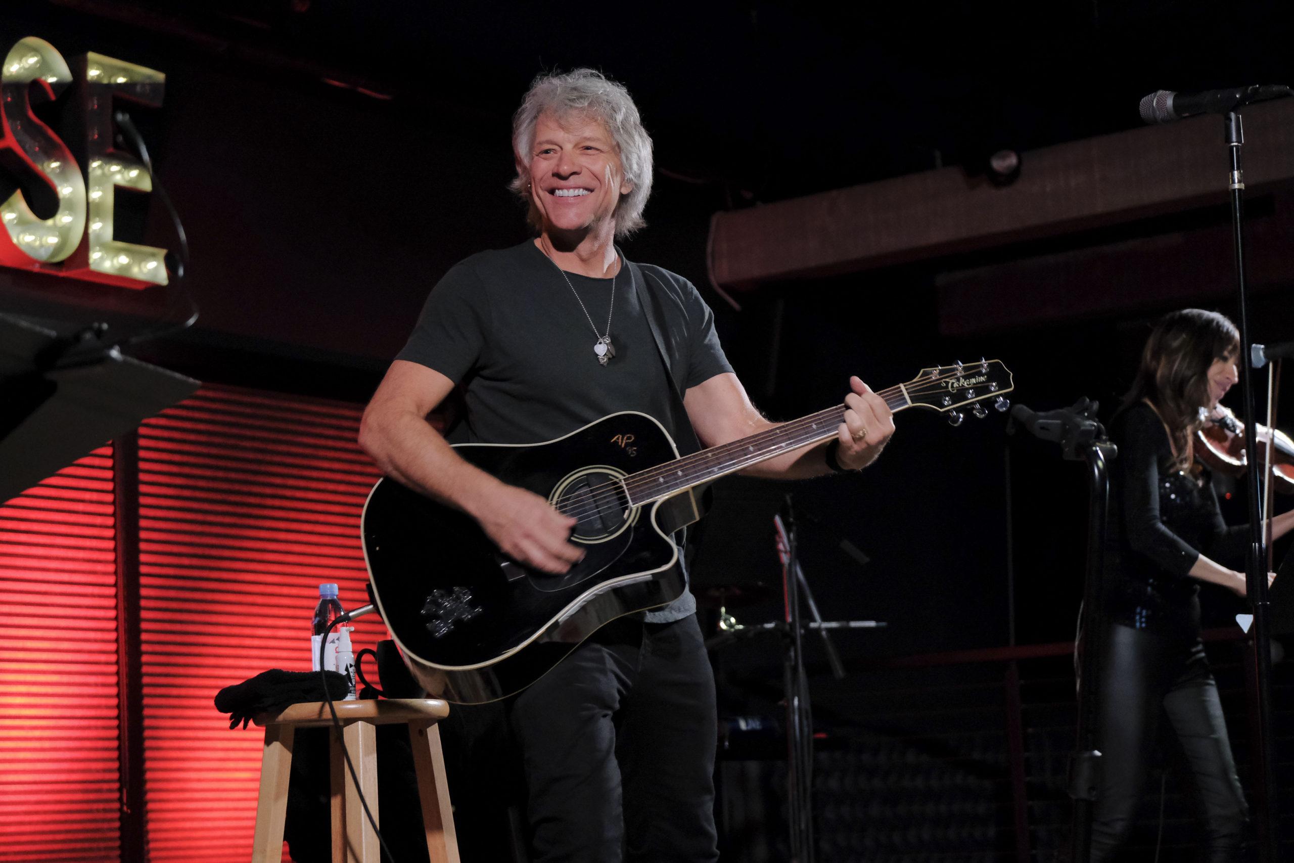 Jon Bon Jovi performing at The Clubhouse Friday night. Photo credit:
