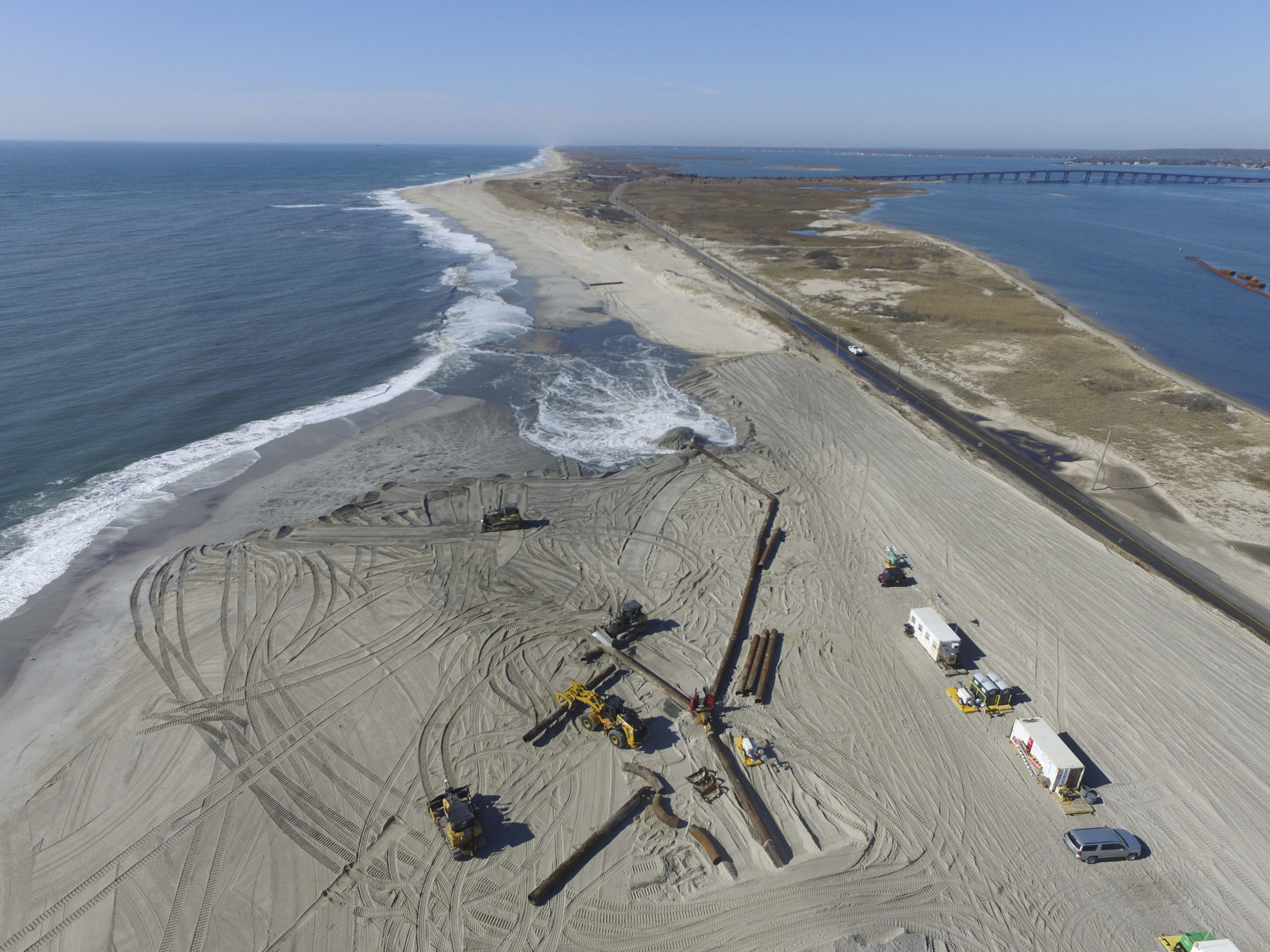 The FIMP project will reconstruct ocean beaches in Montauk, Tiana and West Hampton Dunes.