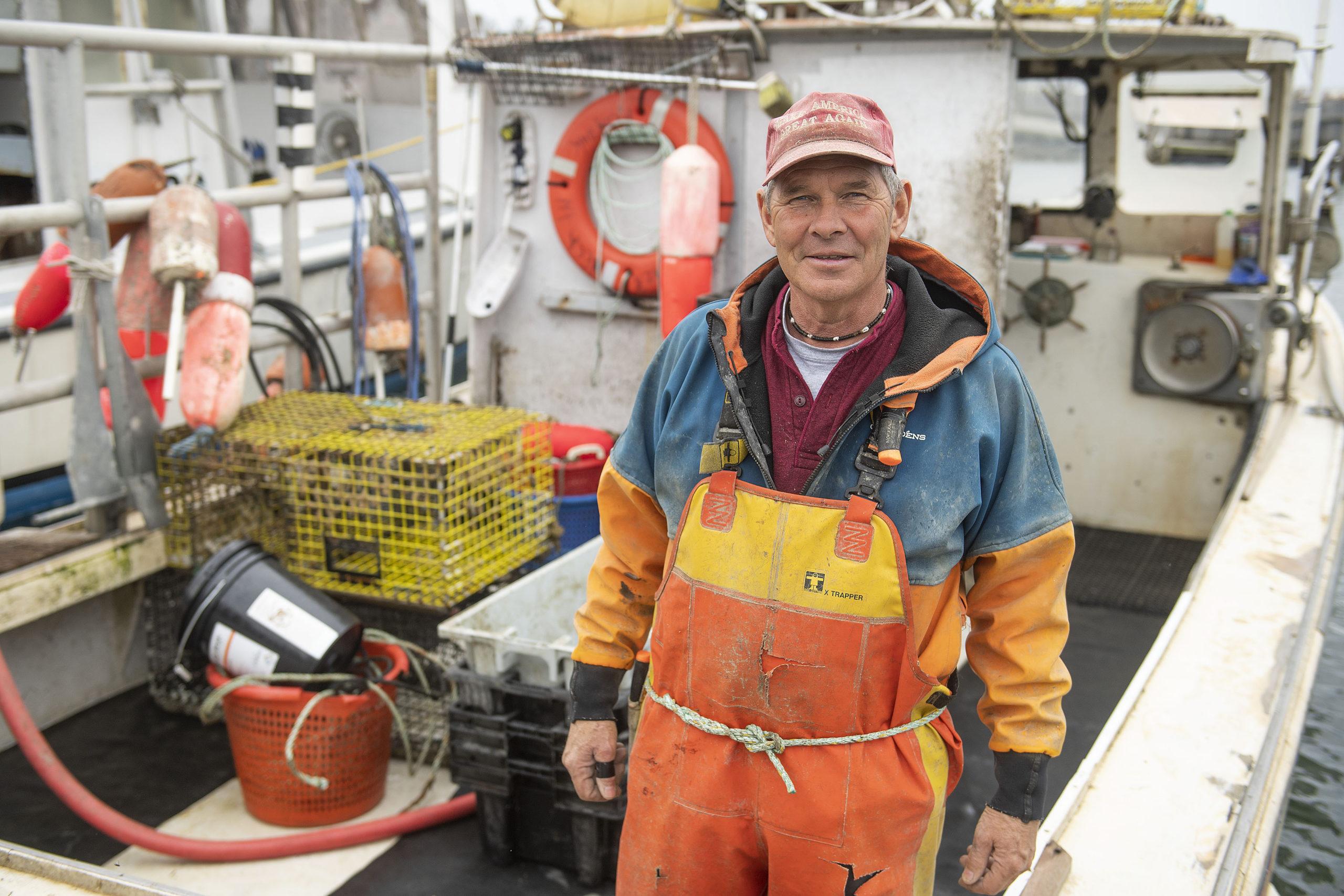 Commercial Fisherman Al Schaffer, aboard the F/V
