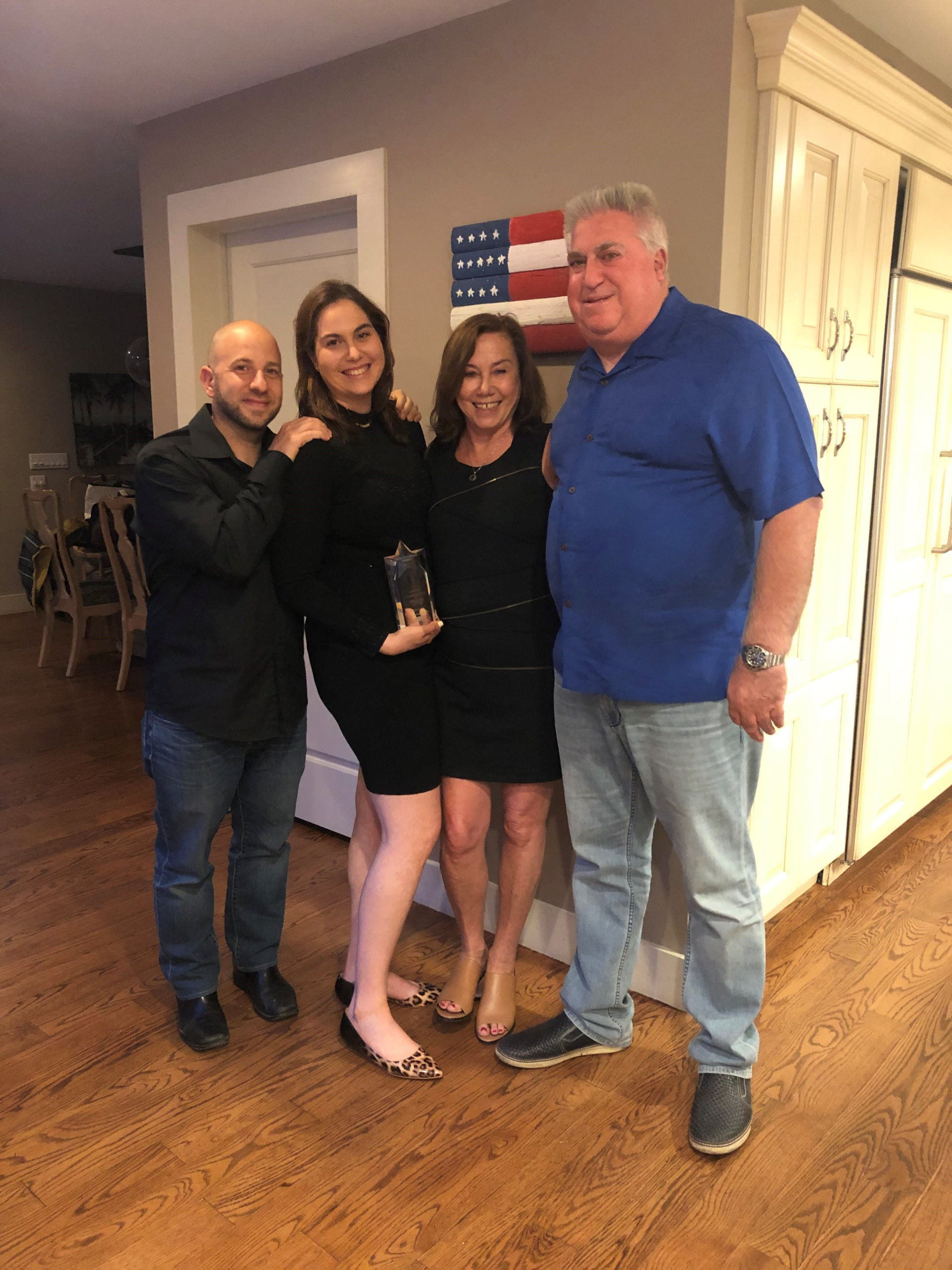 Amanda Goldberg, second from left, and her fiance, Nir Shemesh, with Ms. Goldberg's parents, Denise and Mark Goldberg, founders of the Original Goldberg's bagel empire. Amanda Goldberg, 32, was diagnosed with type 1 diabetes at the age of 9. In lieu of engagement gifts, the couple asked guests to support the Diabetes Research Institute Foundation.