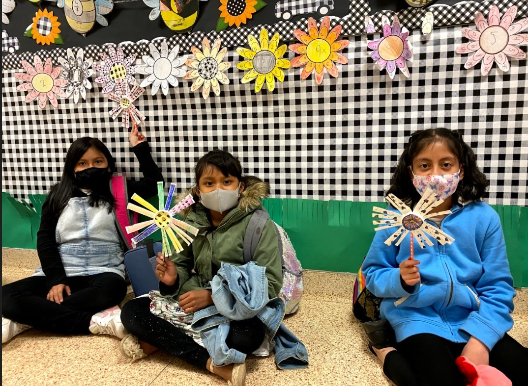 As part of a science unit on natural resources, the students in Claire Urizzo's class at Hampton Bays Elementary School investigated wind power. They explored windmills as a renewable energy source, wrote about them and then constructed their own paper windmills.