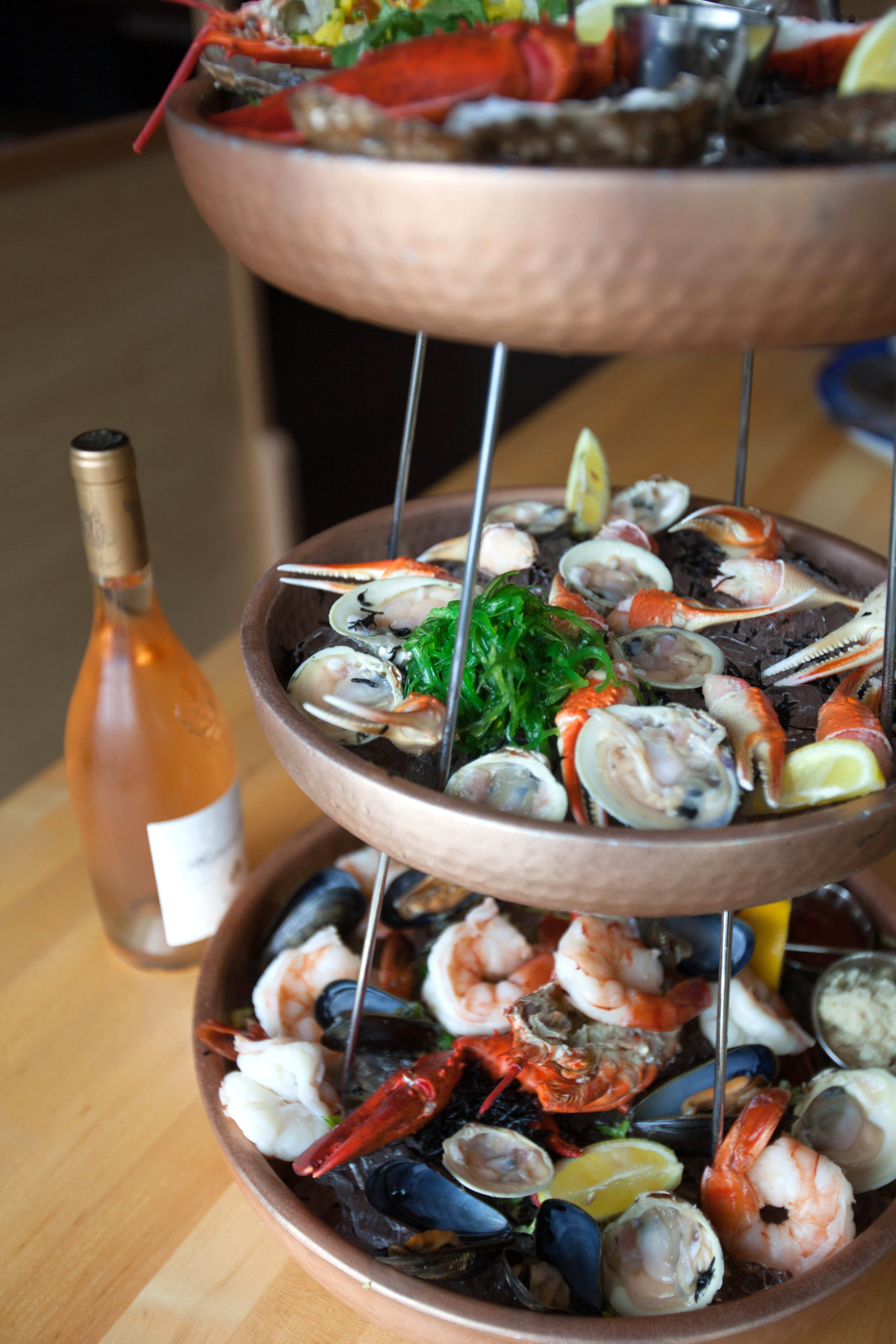 The seafood tower at Manna at Lobster Inn.