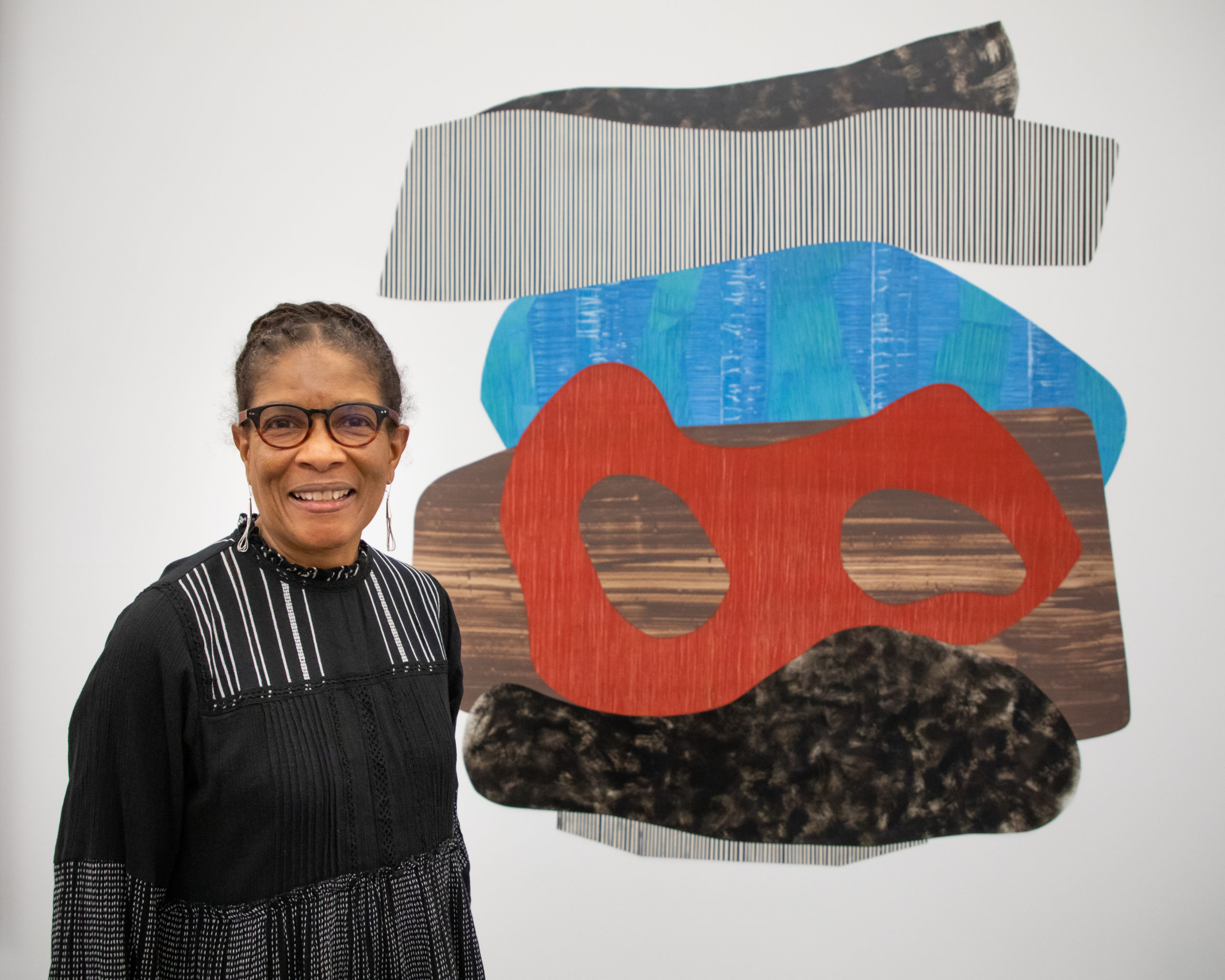 Artist Nanette Carter at the opening of