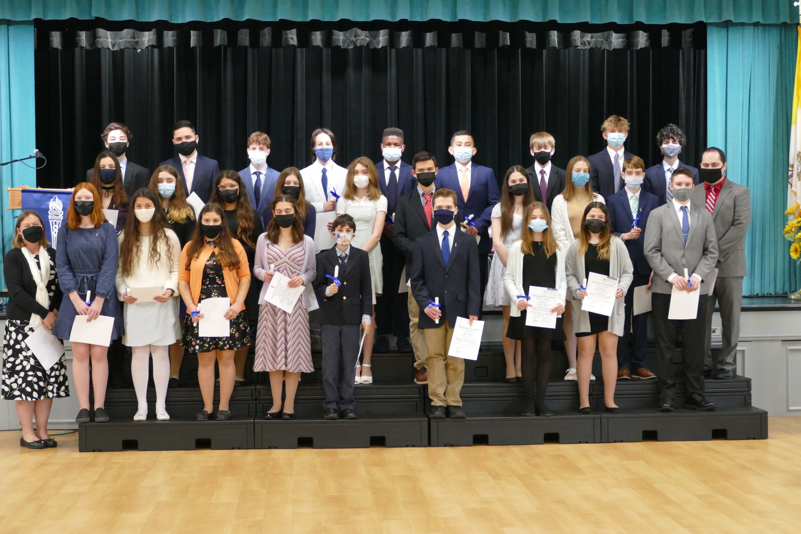 Twenty-eight students at Our Lady of the Hamptons were inducted into the National Junior Honor Society.