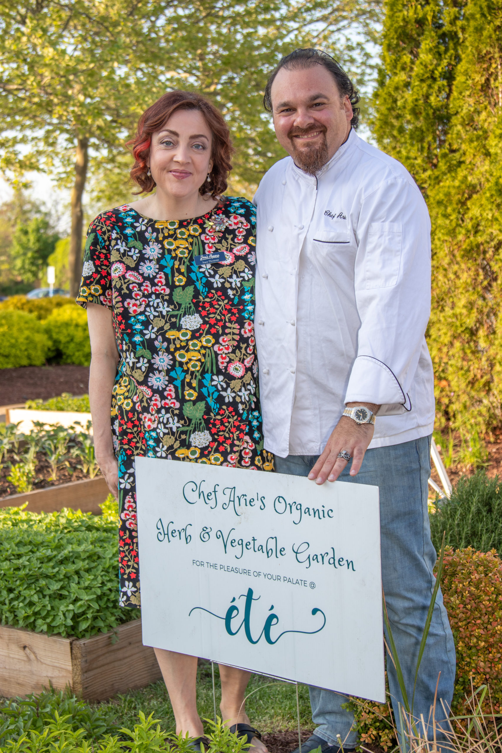 Stacy Dermont and Chef Arie Pavlou.BARBARA LASSEN
