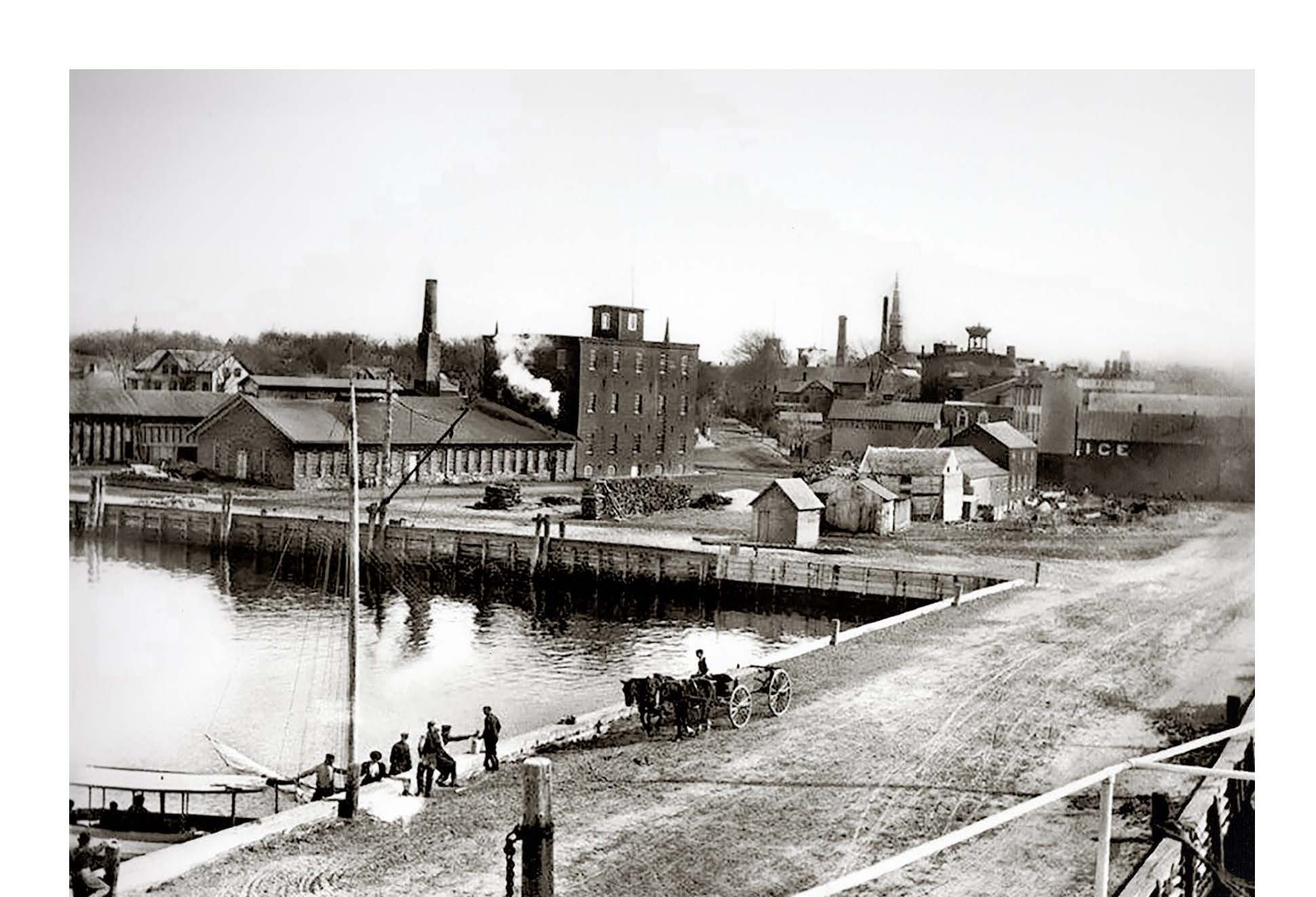 William Wallace Tooker's photo of the foot of Long Wharf in Sag Harbor, c. 1895.