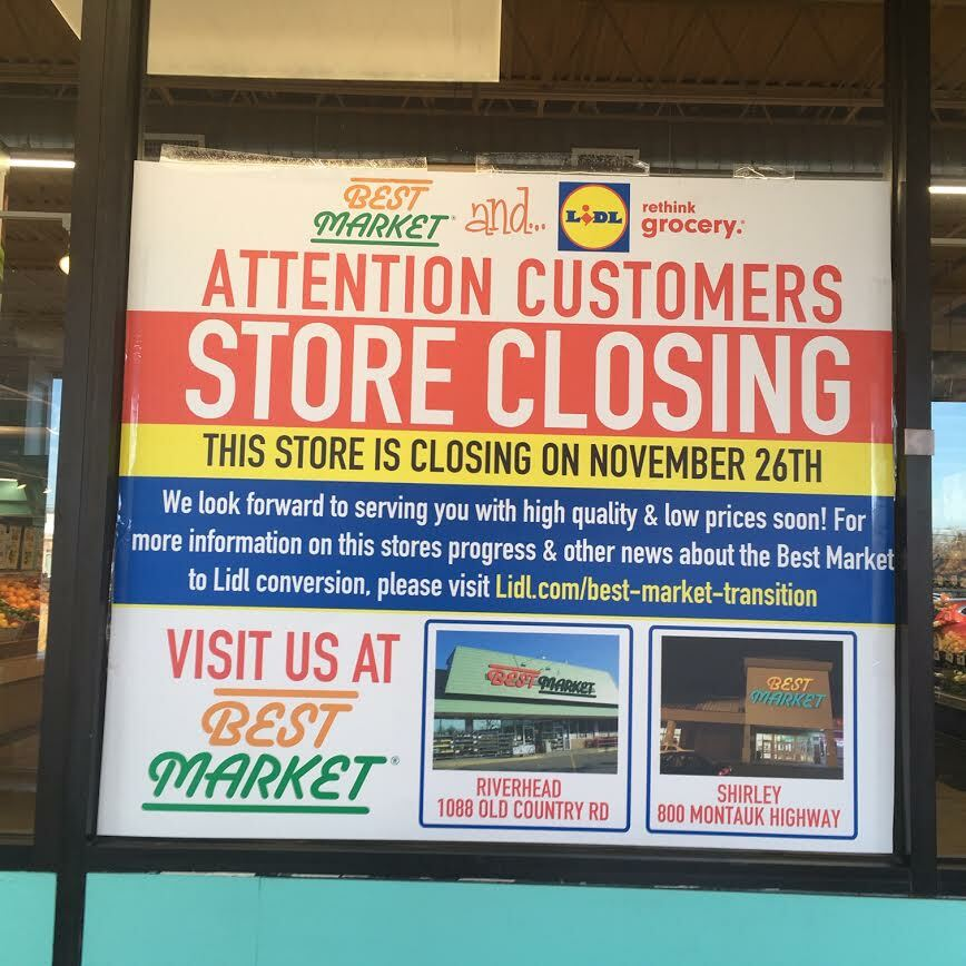 Best Mark in Westhampton Beach closed last November. Its replacement, Lidl, opens on Wednesday, May 19.