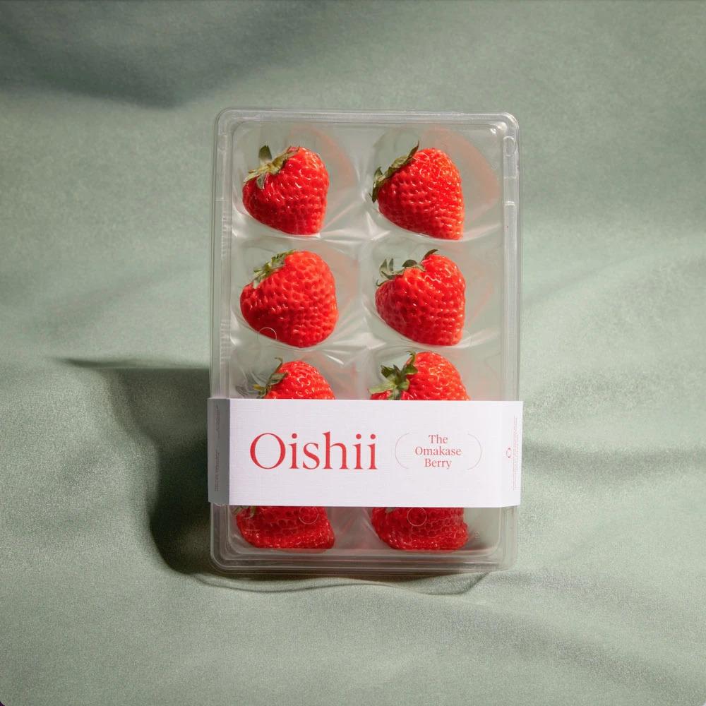 Oishii's Omakase Berries are available through Carissa's Bakery.