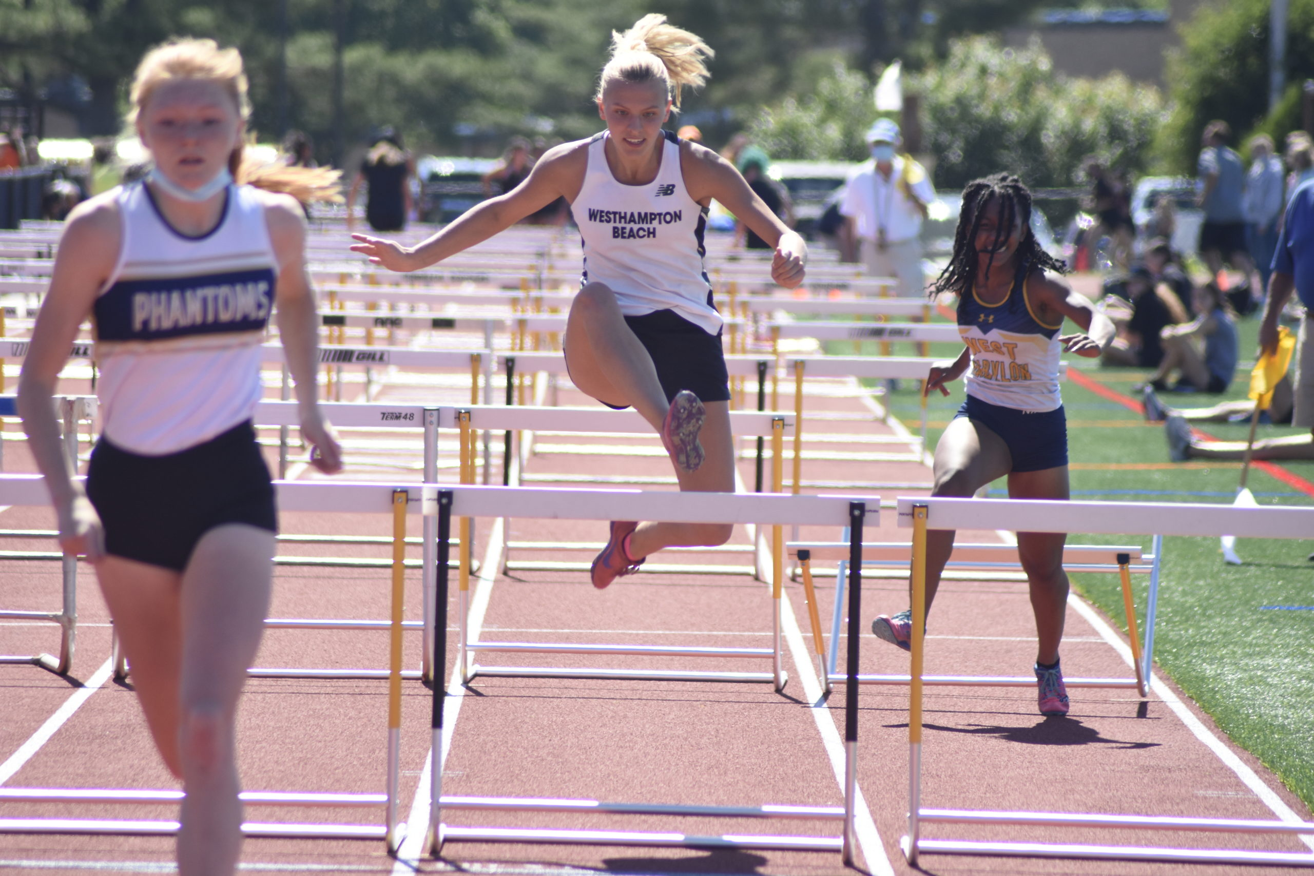 Westhampton Beach junior Valerie Finke finished seventh in the 100-meter hurdles at counties.