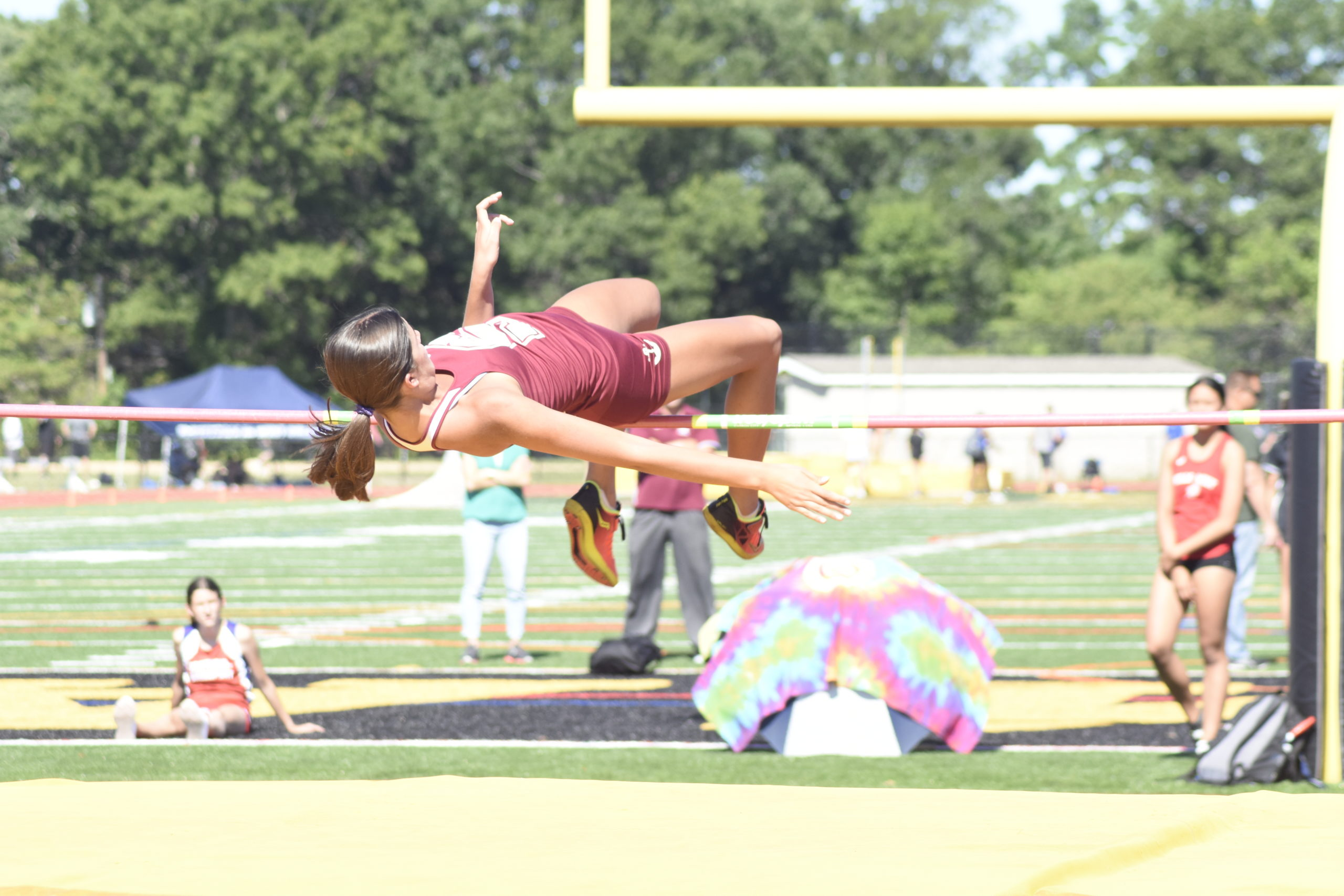 Southampton junior Bridget Ferguson tied for second place in the county in the high jump.