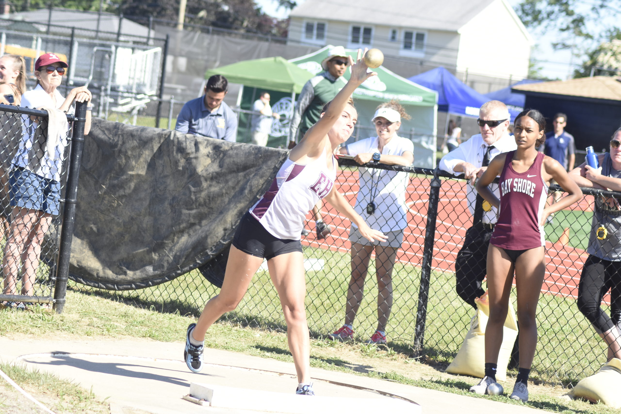 East Hampton senior Bella Tarbet placed third in the shot put portion of the pentathlon of which she placed ninth overall in the county.