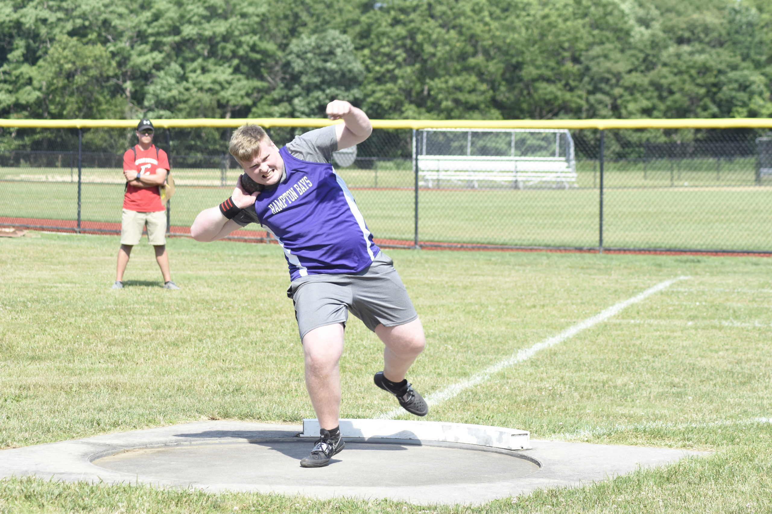Hampton Bays junior Timothy Kraycar finished 11th in the shot put at the Section XI boys track championships on Friday.