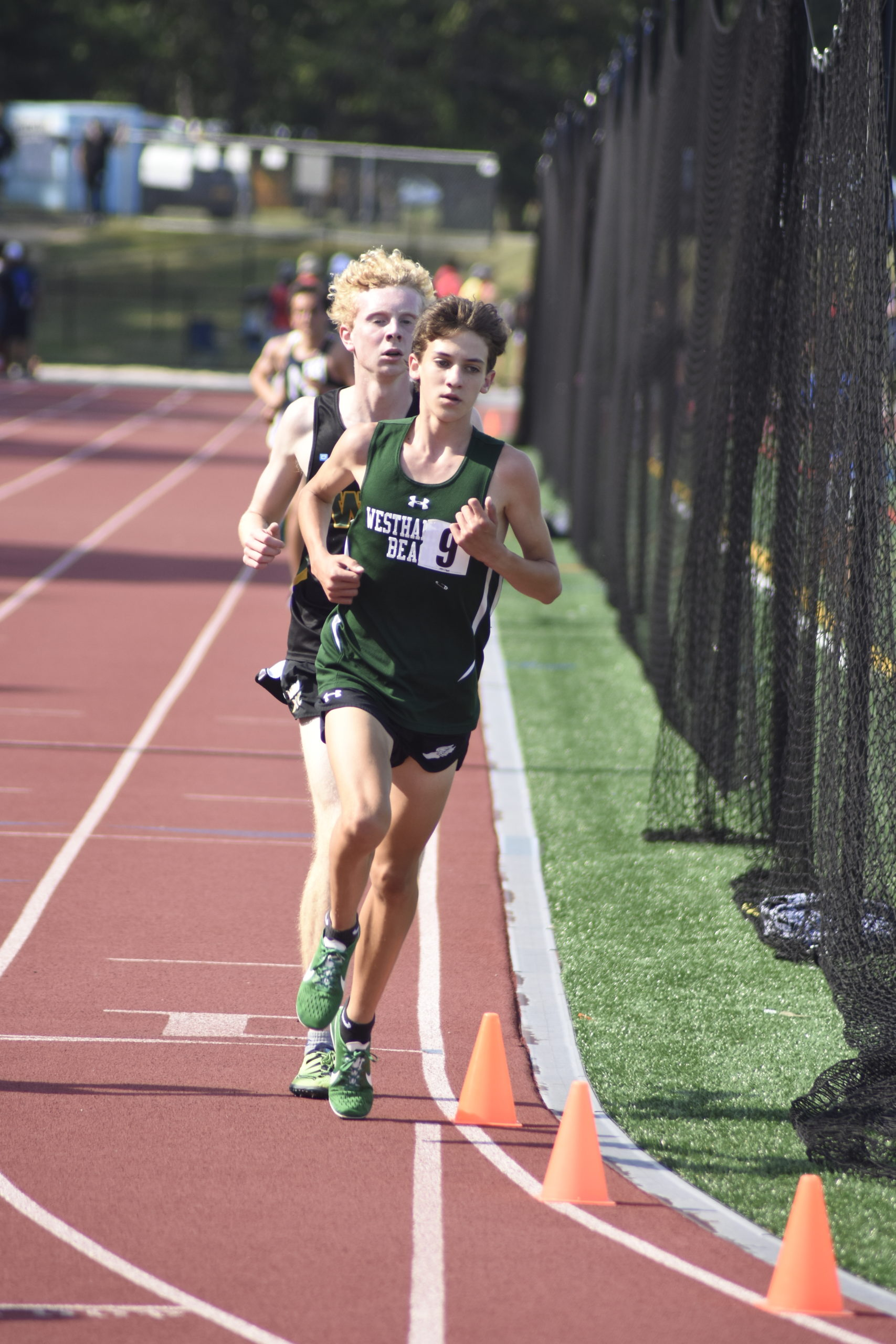 Freshman Hurricane Trevor Hayes finished ninth in the county in the 3,200-meter race.