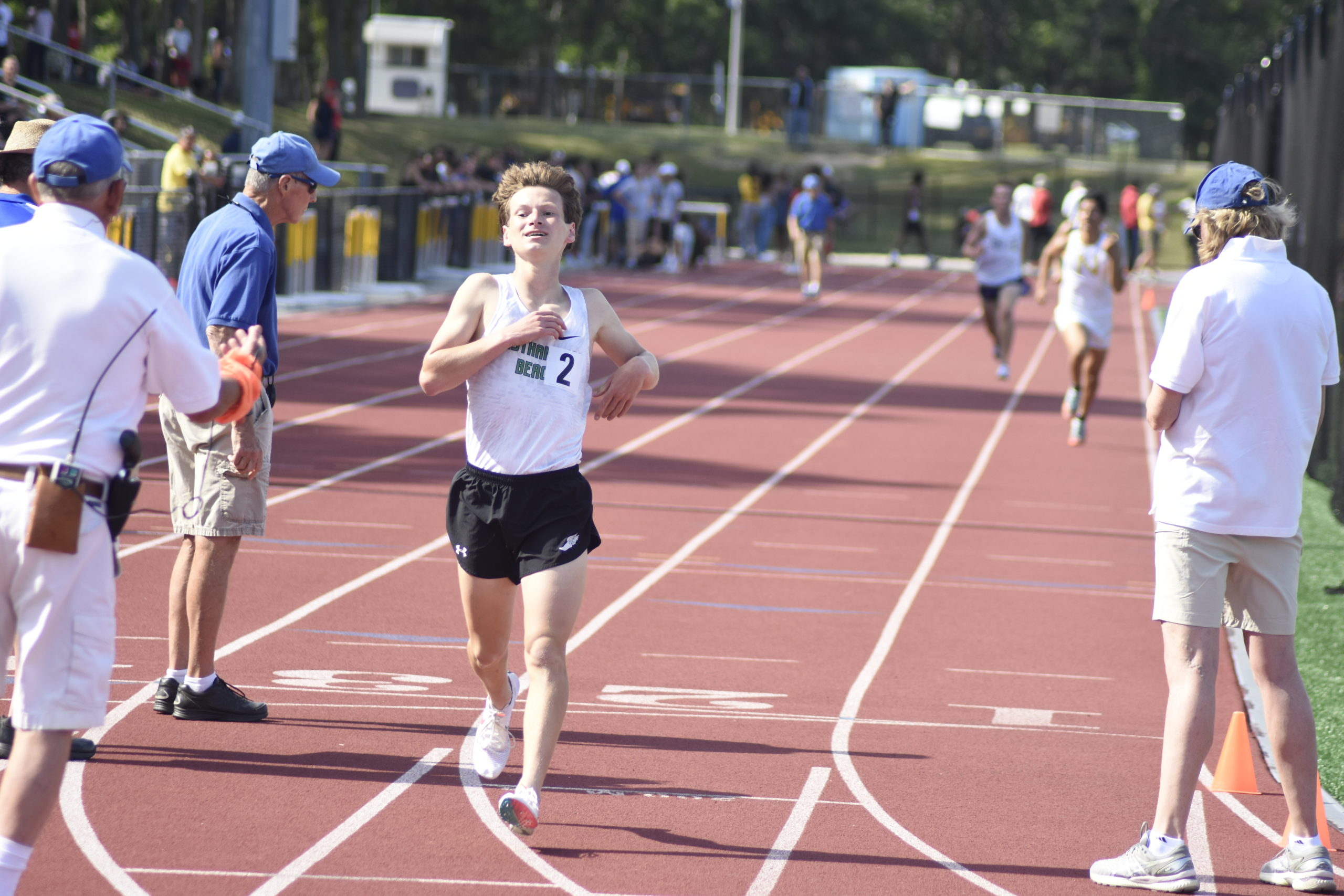 Westhampton Beach sophomore Maximus Haynia was county champion in the 3,200-meter race.