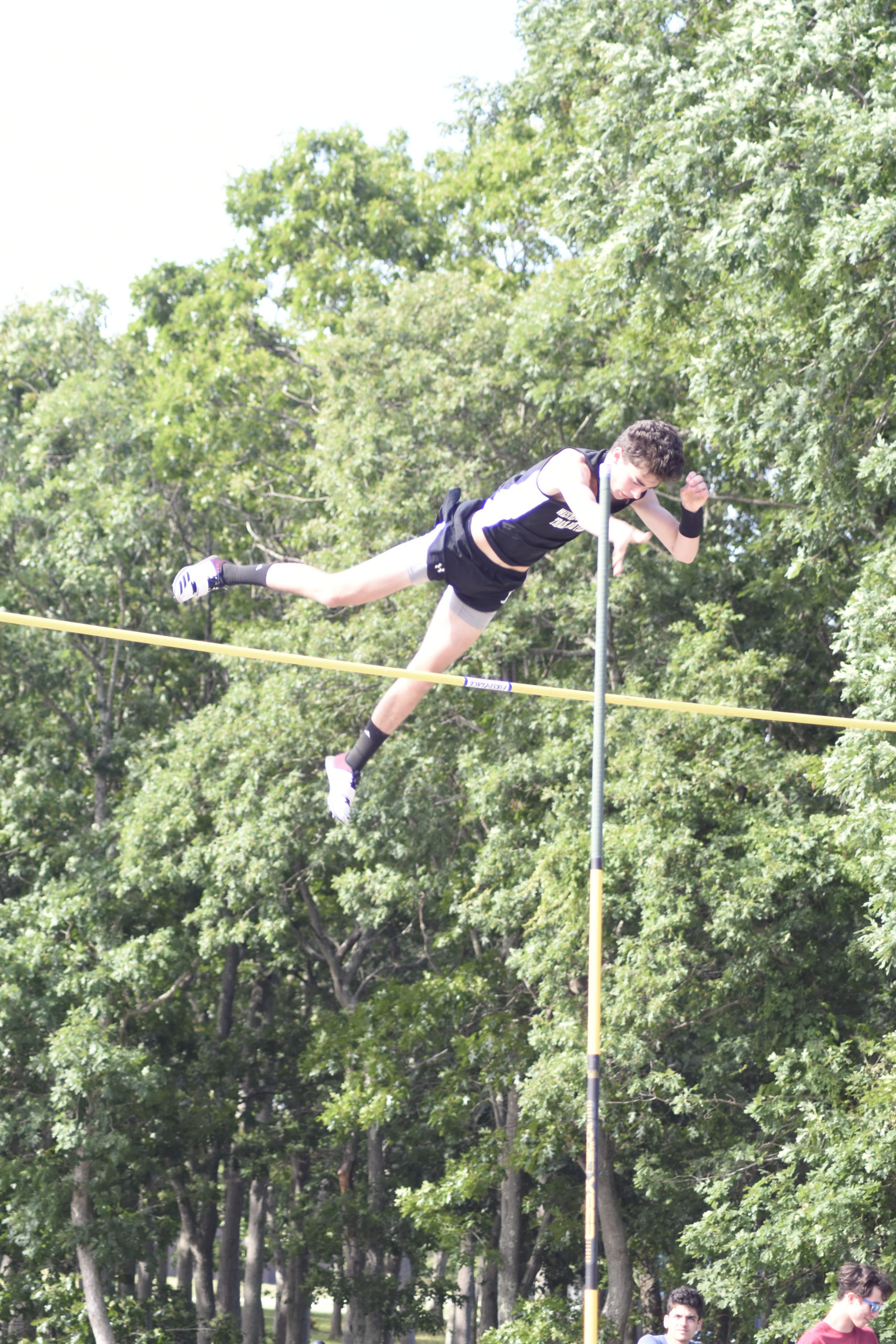 Westhampton Beach junior Colbie Mason finished second in the county in the pole vault.