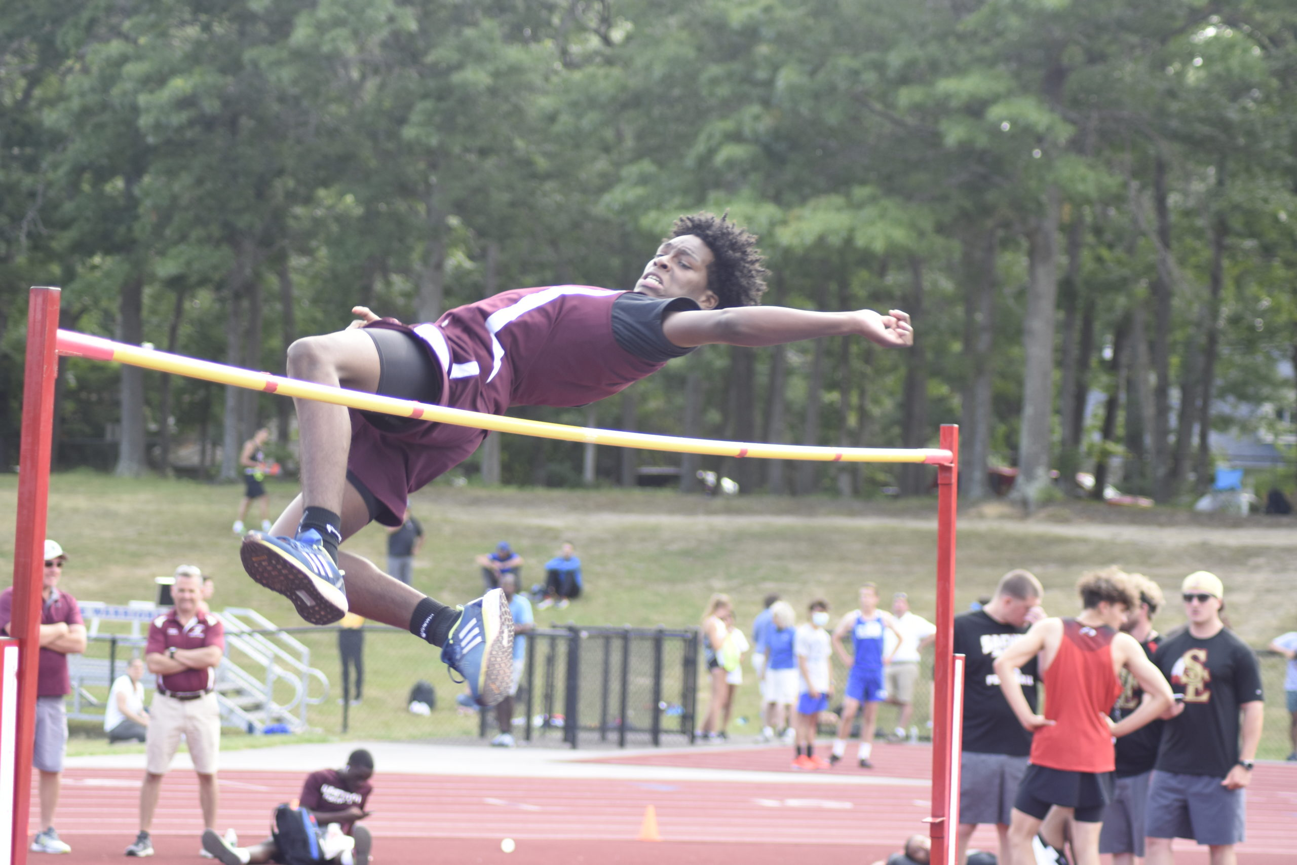 Southampton sophomore Derek Reed tied with Walt Whitman junior Chris Davis for fourth place in the high jump earning All-County honors.