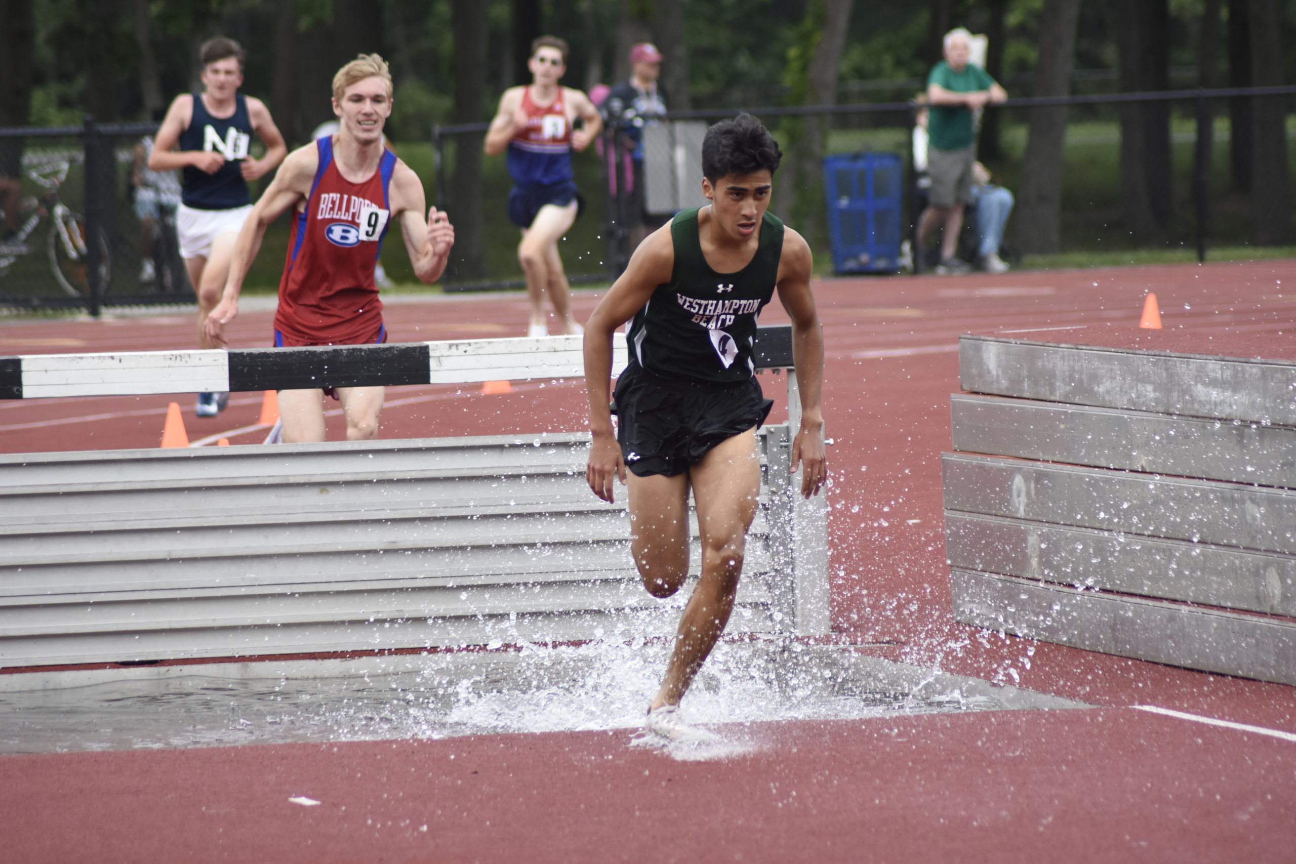 Junior Hurricane David Alvarado placed fourth in the 3,000-meter steeplechase earning All-County honors.