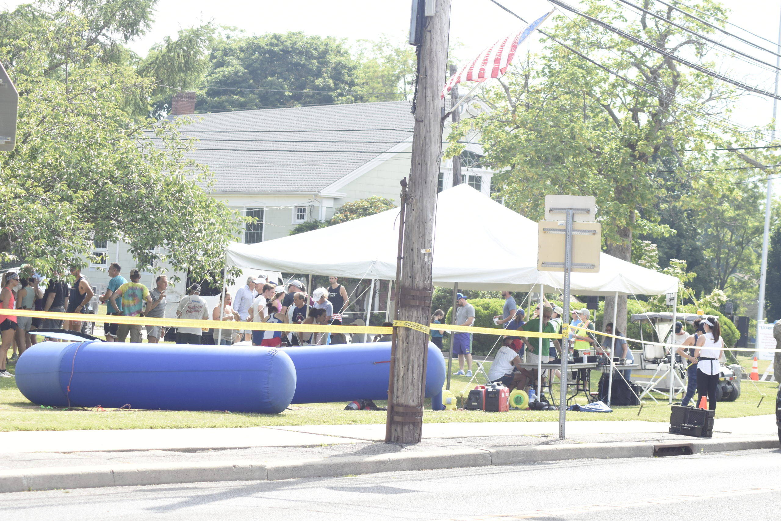 With no vendors or spectators allowed, there were less crowds at the 42nd annual Shelter Island 10K on Saturday.