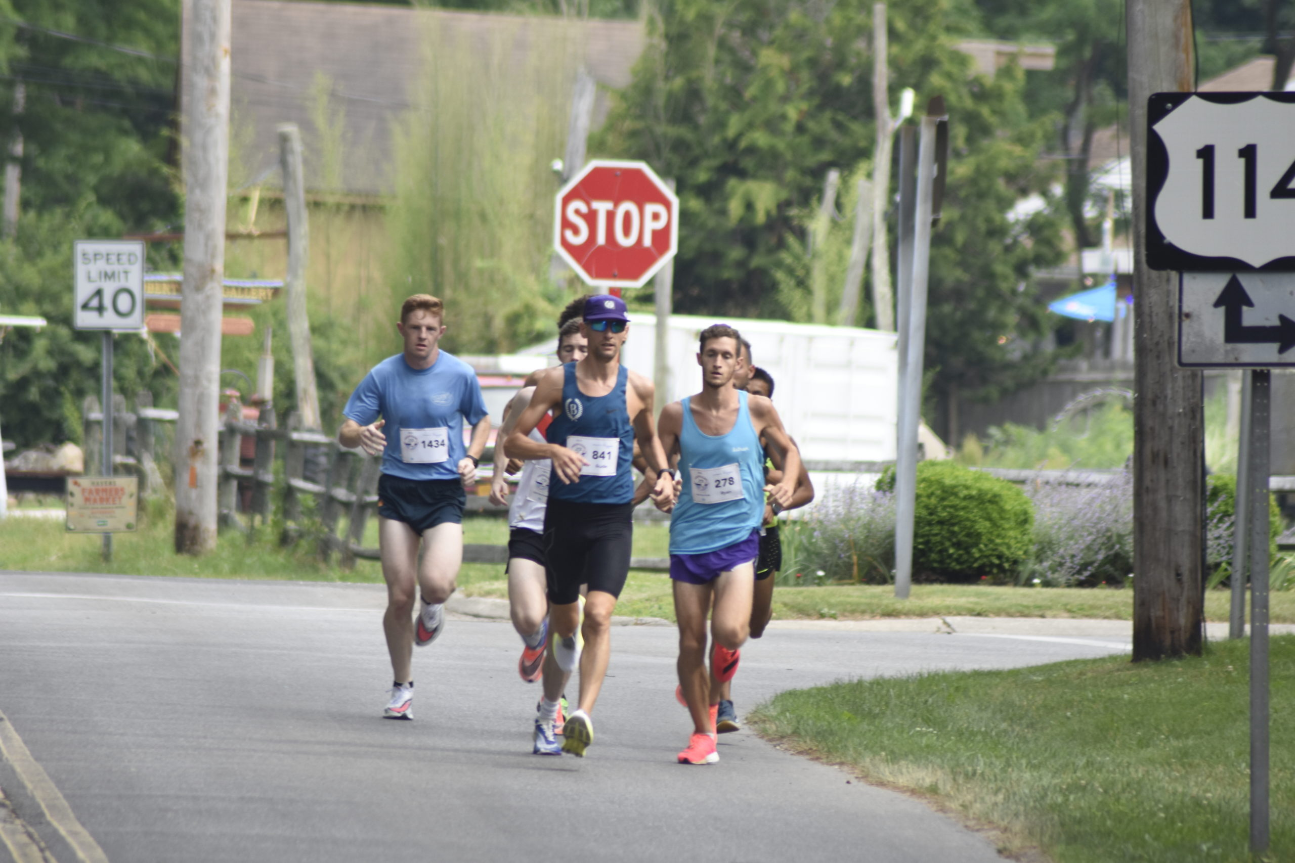 The lead pack of runners started to pull away from the initial pack not even a mile into the race.