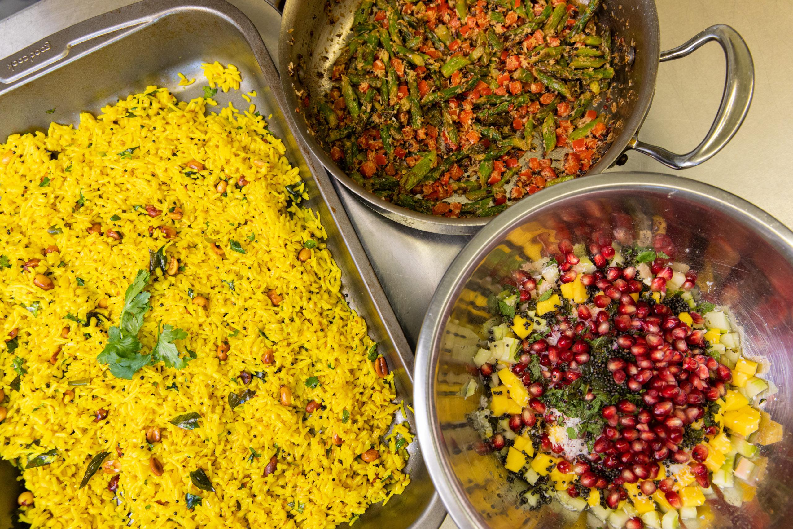 Tapovana dishes in progress.