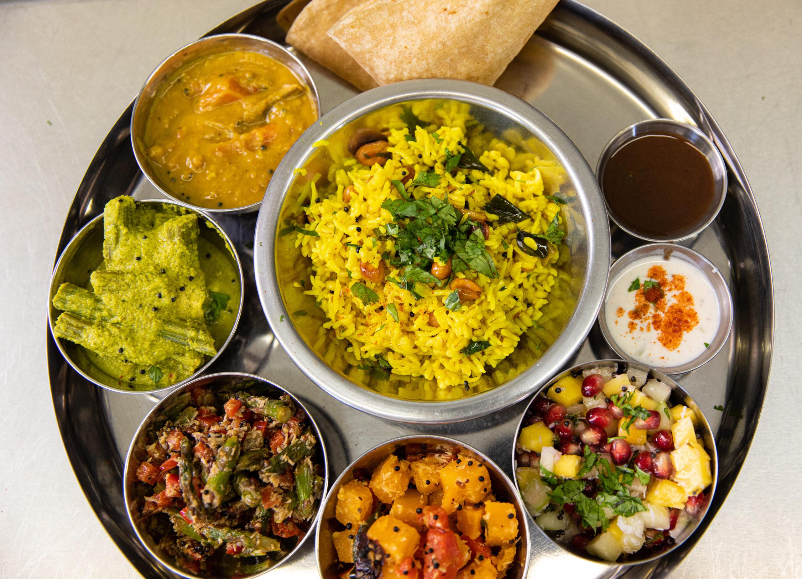 A Tapovana thali plate.