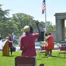 The 2020 Juneteenth celebration in Agawam Park in Southampton Village.  DANA SHAW