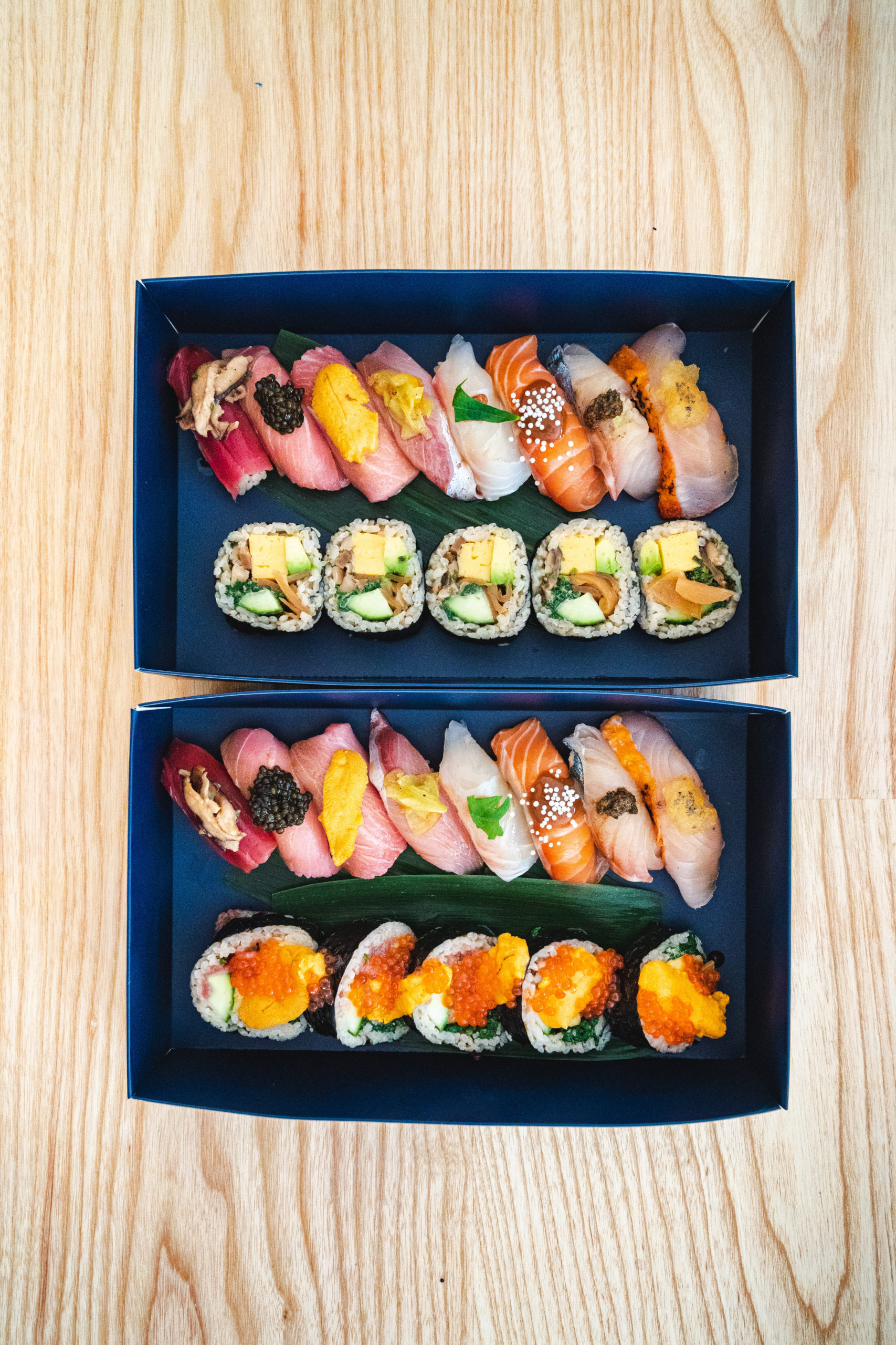 Kissaki's menu offers its signature premium omakase boxes, specialty rolls and more.