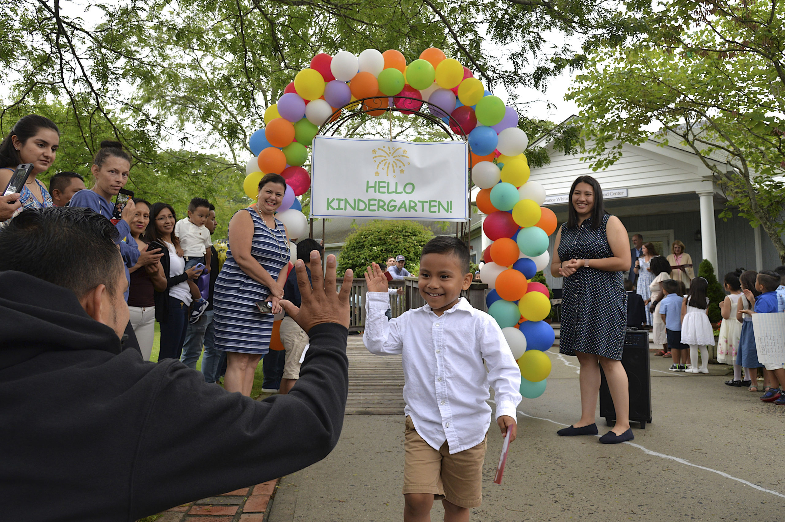Eleanor Whitmore Early Childhood Center hosted a  Pre-K moving up ceremony on Friday for the more than 40 children who will celebrate their official entry into Kindergarten.    KYRIL BROMLEY