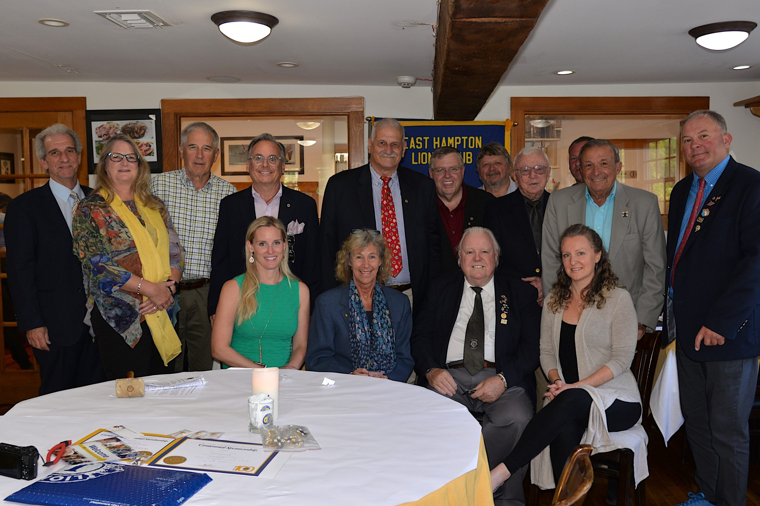 Members, Directors and Officers of the East Hampton Lions Club attended an installation dinner at The Blend on Thursday, June 24. The Club, which has been chartered locally since 1949, is current led by President Stephen Lynch, Sr., whose son, Stephen Lynch Jr. is also a member of the service-oriented organization.