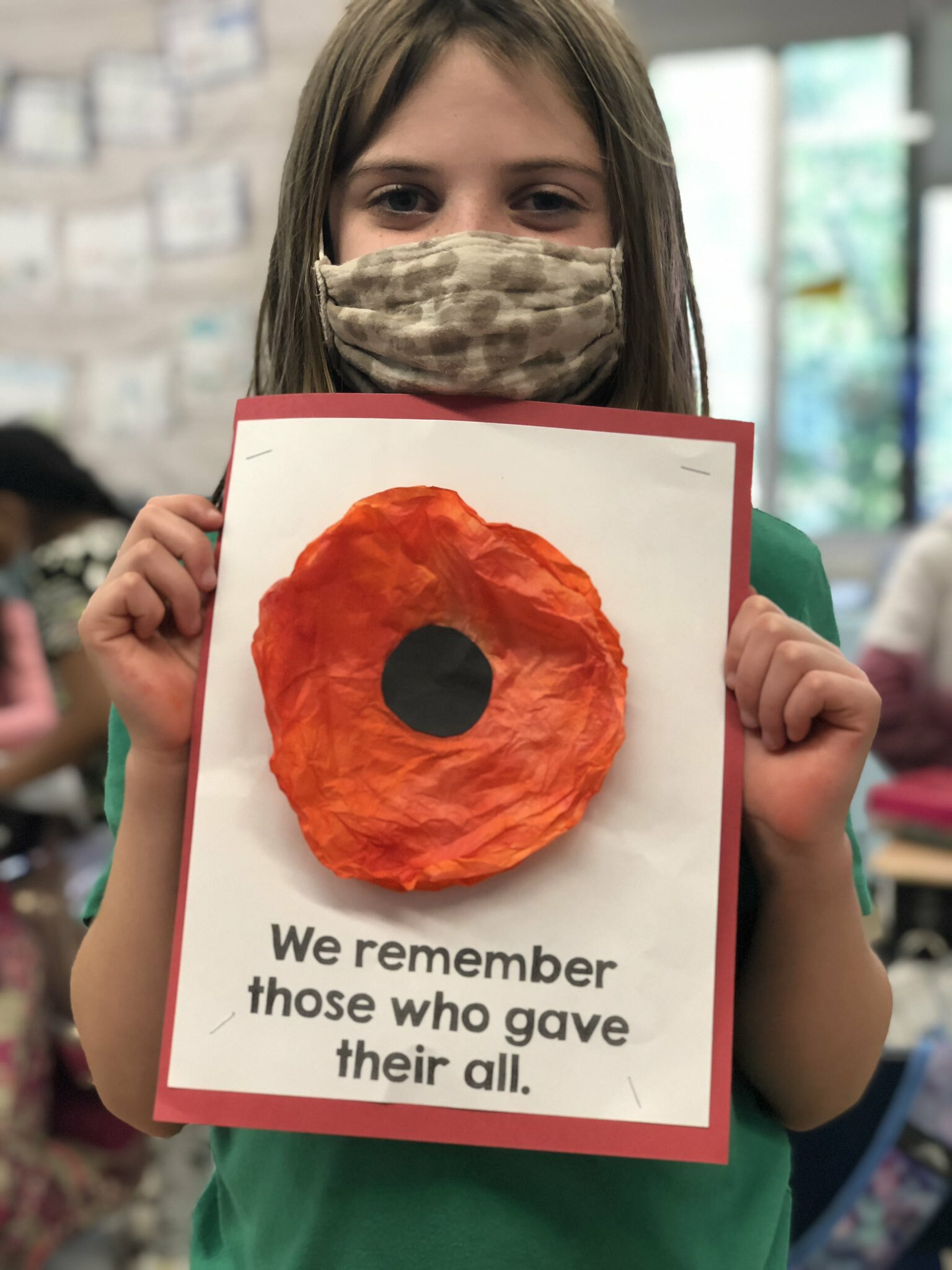 Hampton Bays Elementary School students recently learned more about Memorial Day and honoring those who served. In addition to the lessons, Erin McDermott's second grade class made red paper poppies, while Lauren Mikelinich's first graders designed red, white and blue paper plate wreaths. Photo courtesy of the Hampton Bays Union Free School District