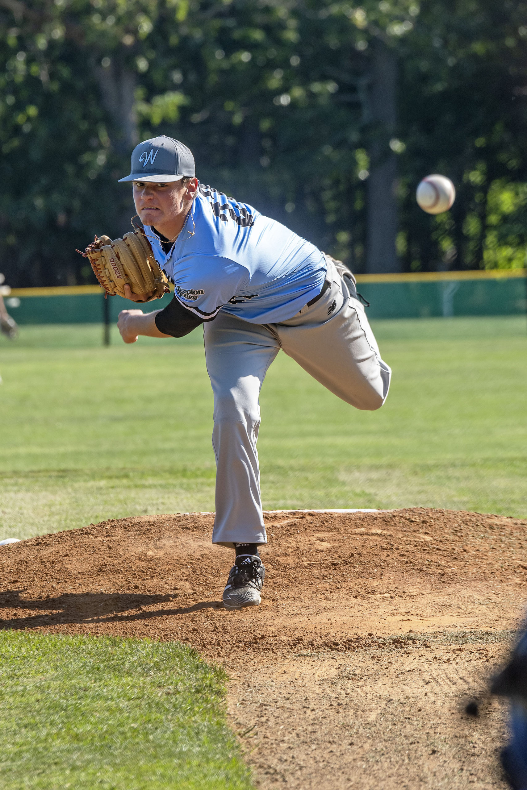 Pitcher Justin Sinibaldi started for the Whalers.