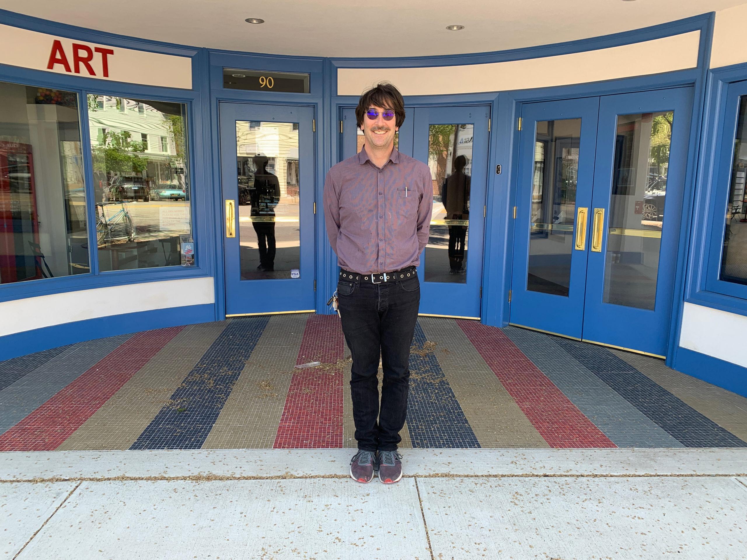 Jamie Hook at the Sag harbor cinema in May. ANNETTE HINKLE